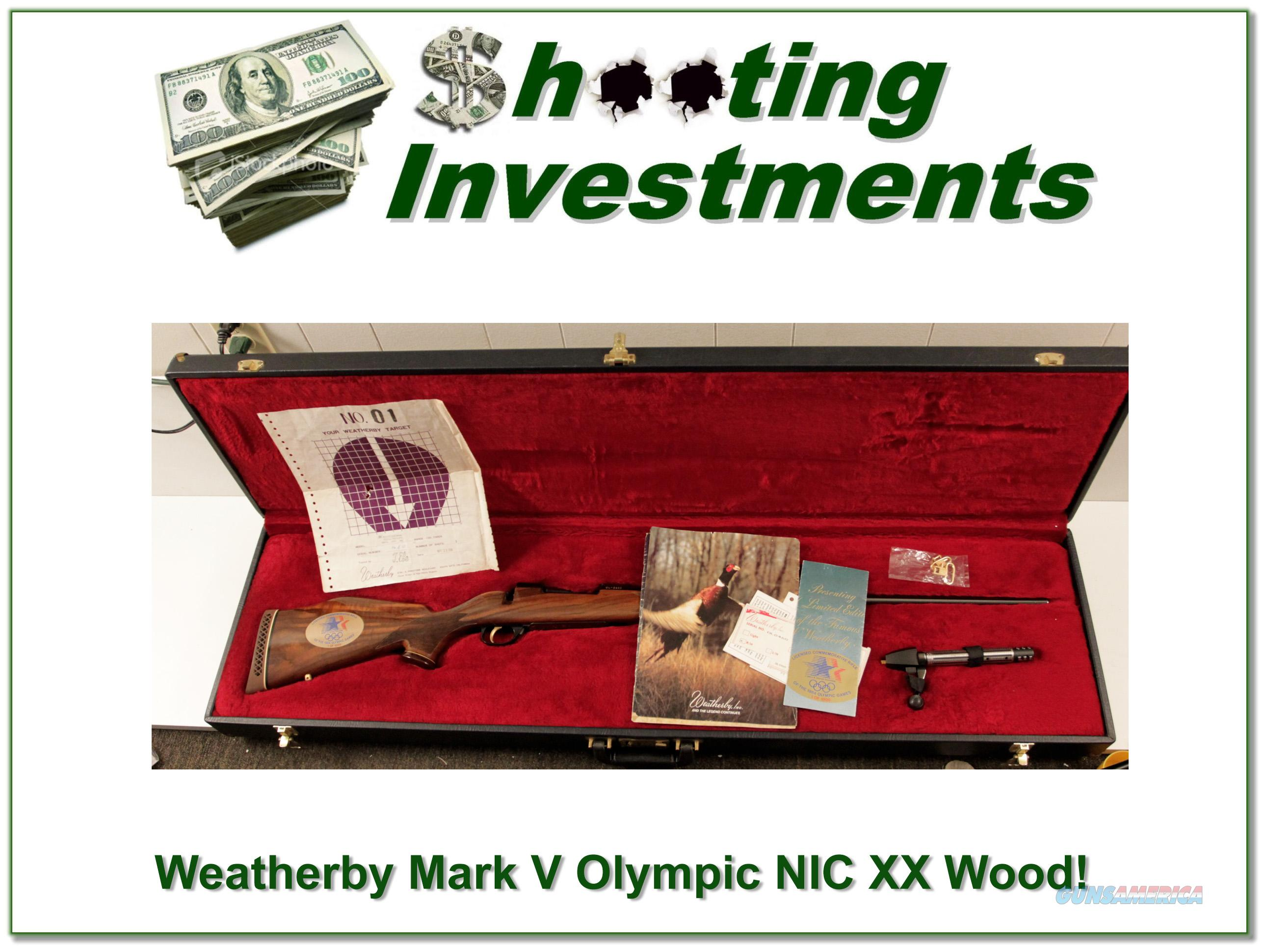 Weatherby Mark V '84 Olympic 300 NIC!  Guns > Rifles > Weatherby Rifles > Sporting