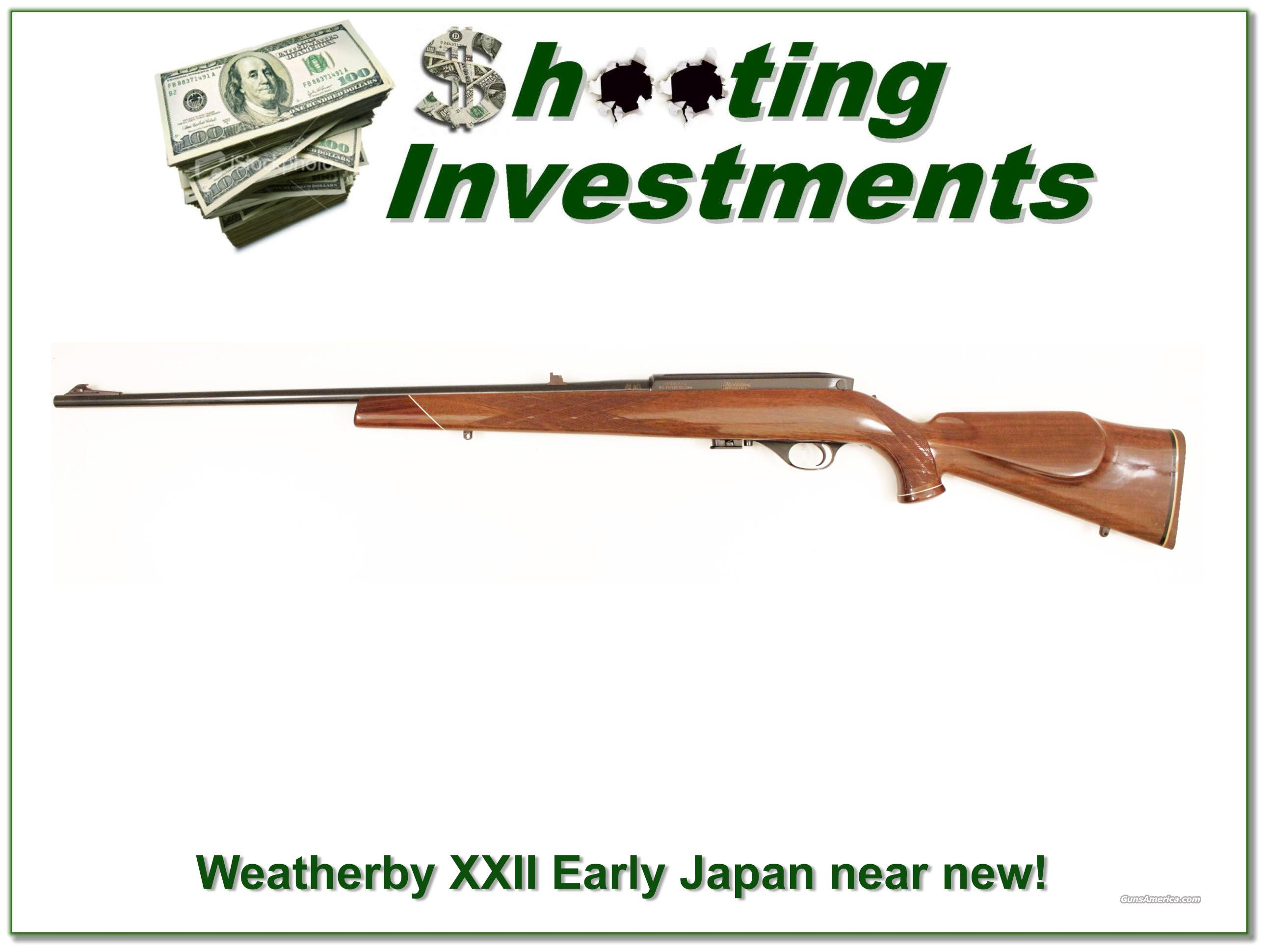 Weatherby Mark XXII 22 rimfire early Japan  Guns > Rifles > Weatherby Rifles > Sporting