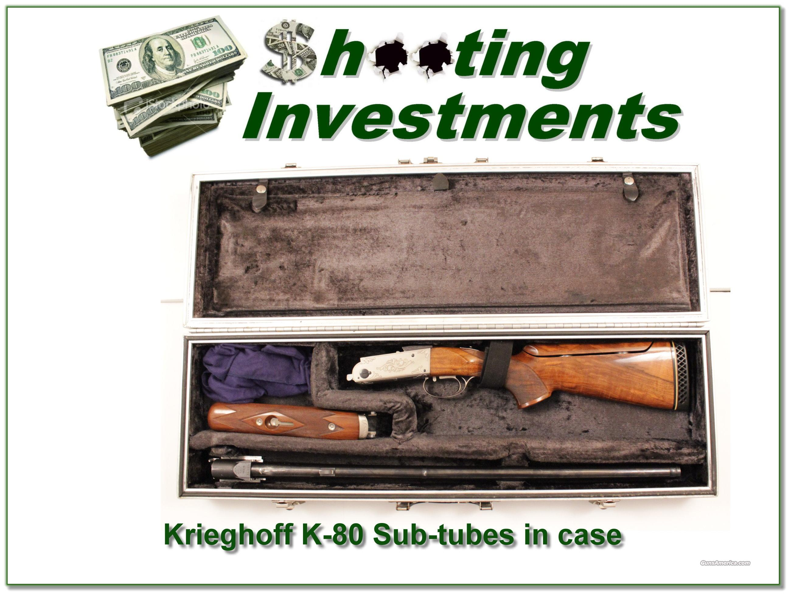 Krieghoff K-80 with full set of Sub-Tubes in factory case  Guns > Shotguns > Krieghoff Shotguns