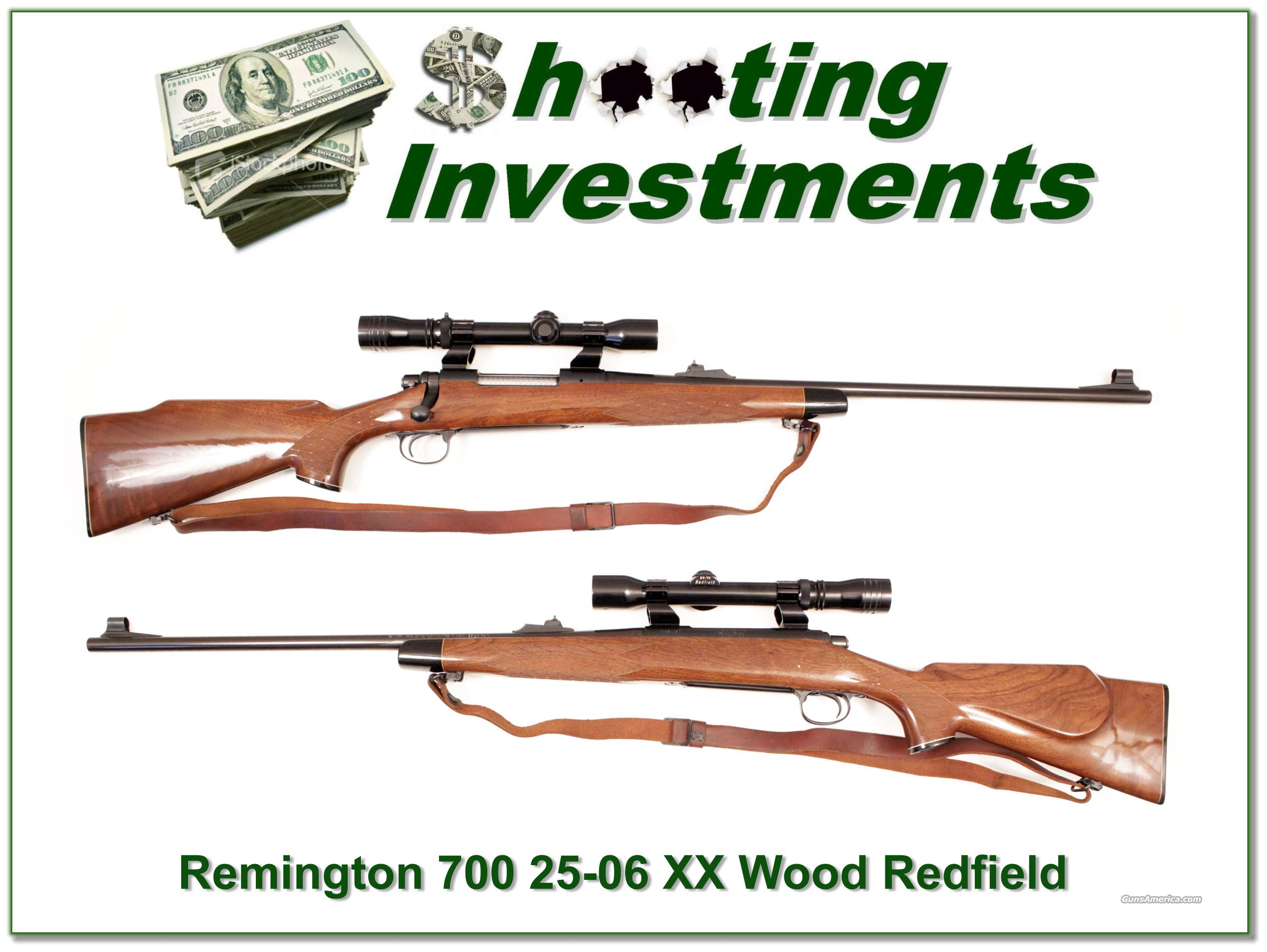 Remington 700 vintage 25-06 XX Wood Redfield as new!  Guns > Rifles > Remington Rifles - Modern > Model 700 > Sporting