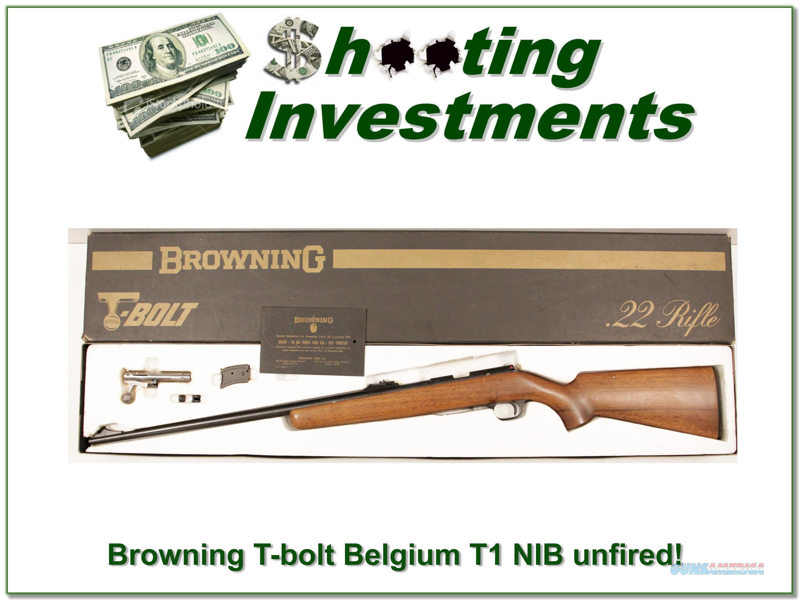 Browning Belgium T-bolt unfired in box with papers!  Guns > Rifles > Browning Rifles > Bolt Action > Hunting > Blue