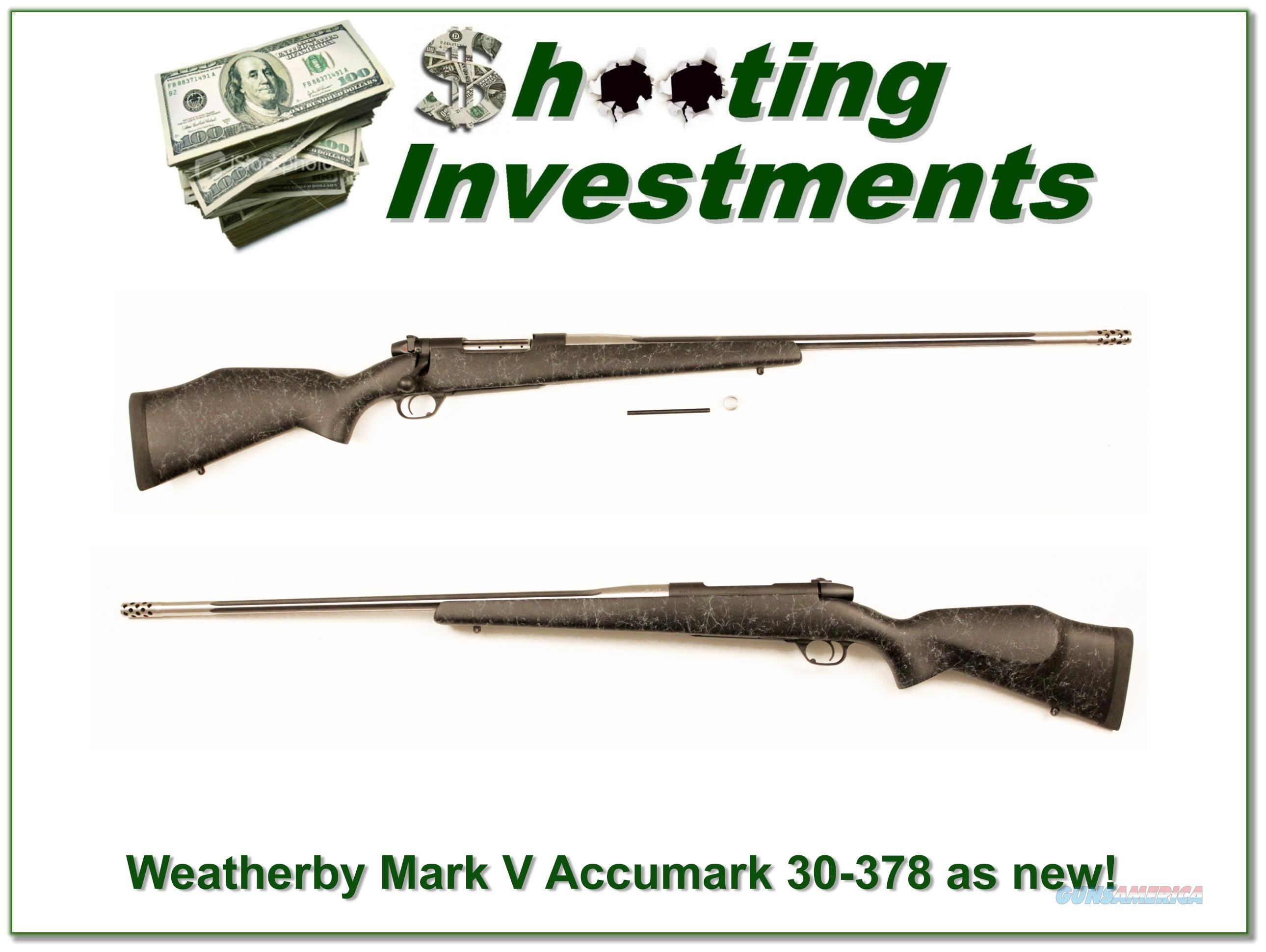 Weatherby Accumark 30-378 Exc Cond!  Guns > Rifles > Weatherby Rifles > Sporting