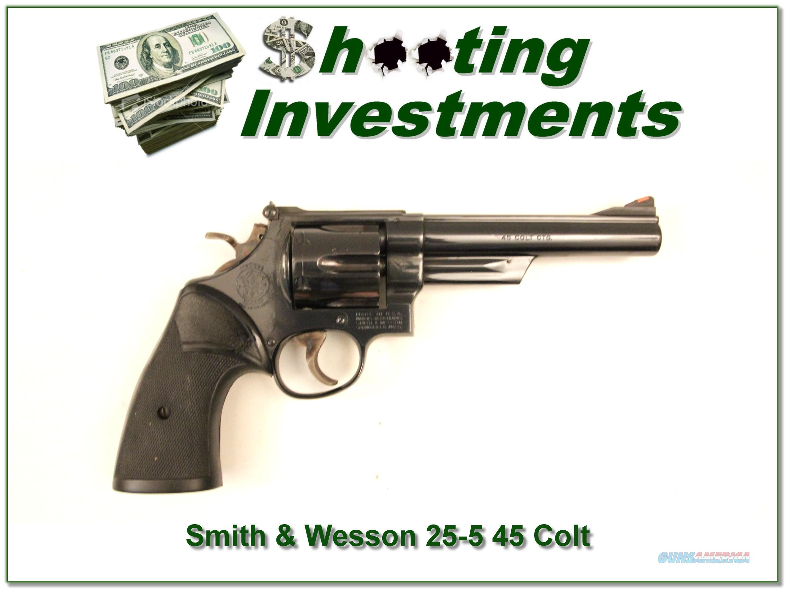 Smith & Wesson 25-5 45 Colt Blued 6 in  Guns > Pistols > Smith & Wesson Revolvers > Full Frame Revolver