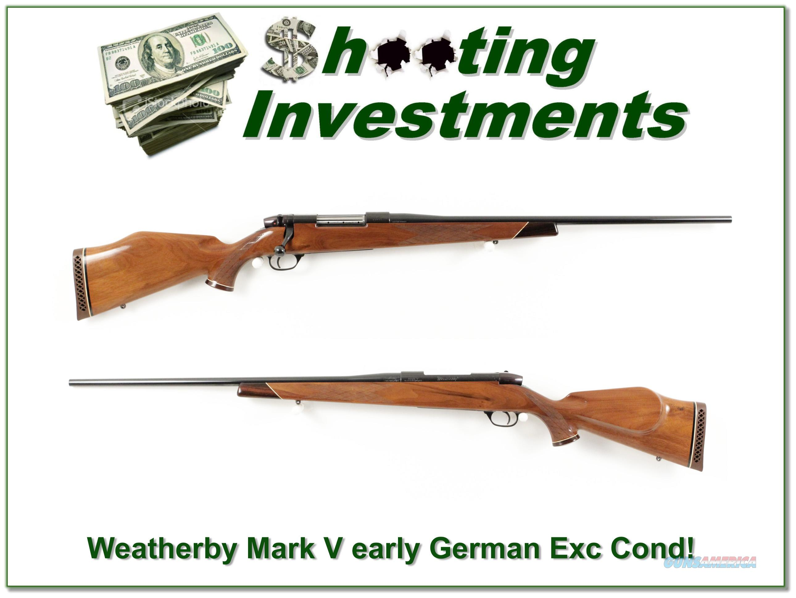Weatherby Mark V Deluxe early German 300 Exc Cond!  Guns > Rifles > Weatherby Rifles > Sporting
