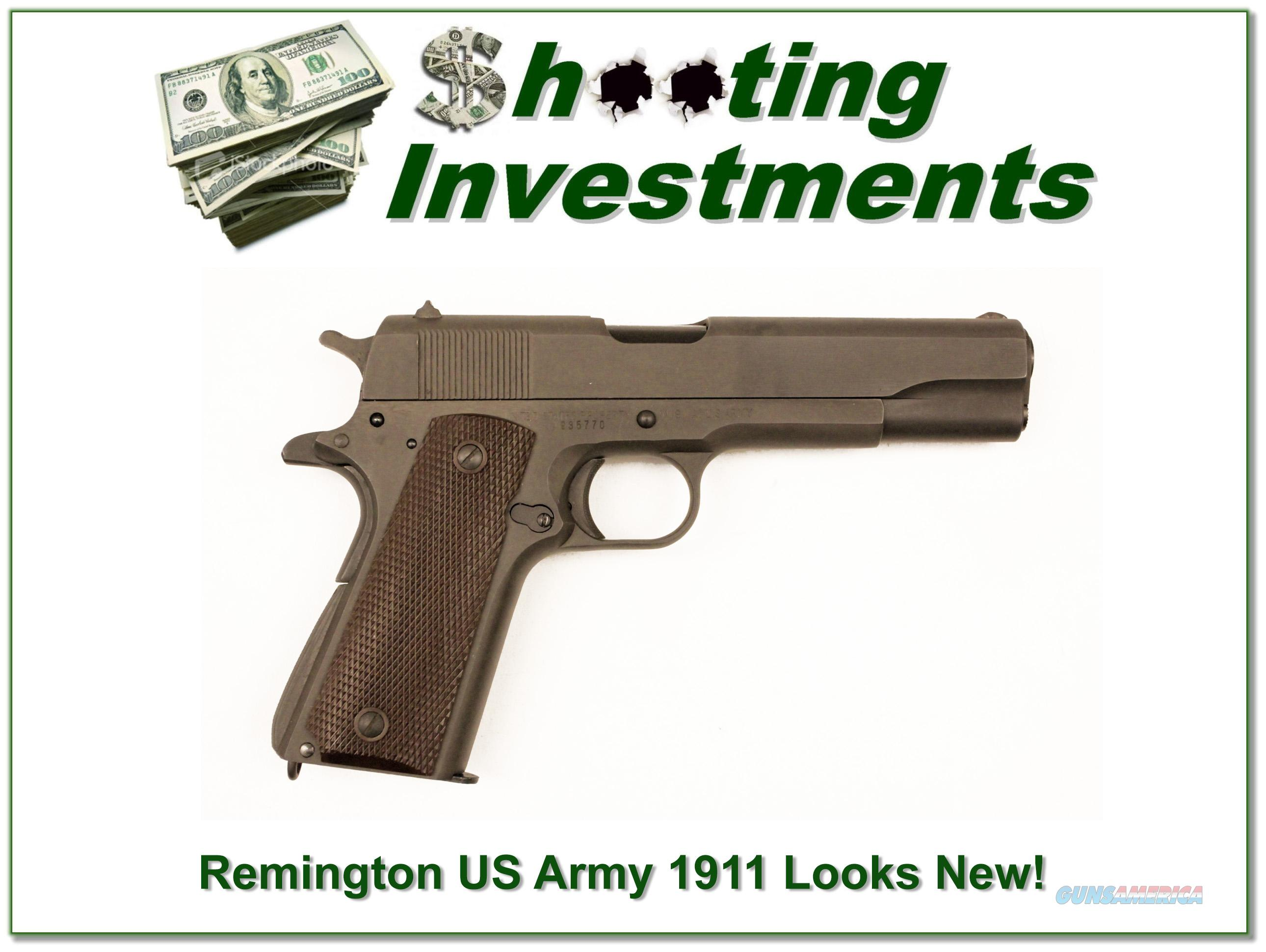 Remington Rand US Army 1911 first year 1942 looks new!  Guns > Pistols > Remington Pistols - Modern > 1911
