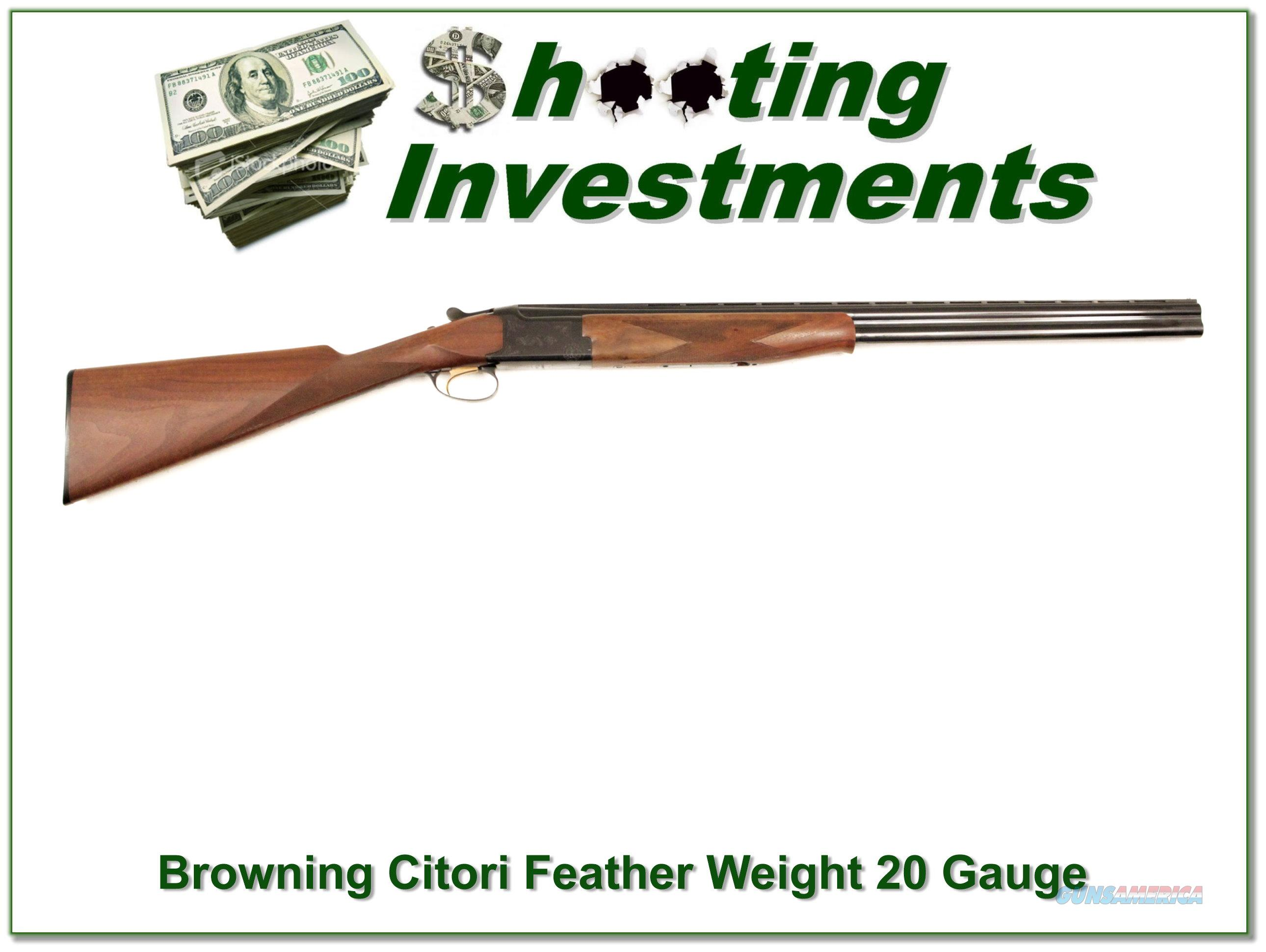Browning Citori Superlight 20 Gauge as new!  Guns > Shotguns > Browning Shotguns > Over Unders > Citori > Hunting