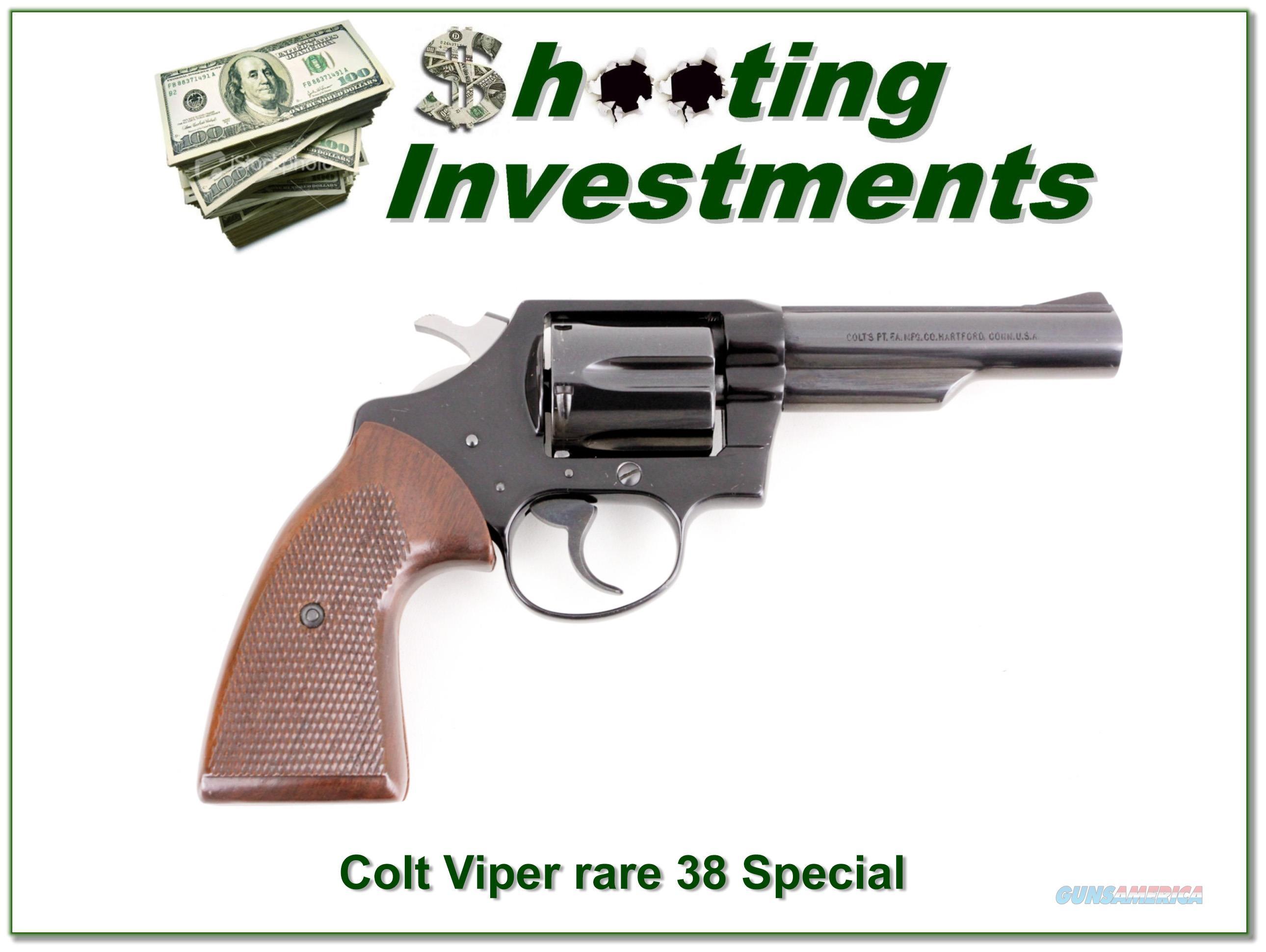 RARE Colt VIPER 38 Special 4in 1969  Guns > Pistols > Colt Percussion Revolver - Modern