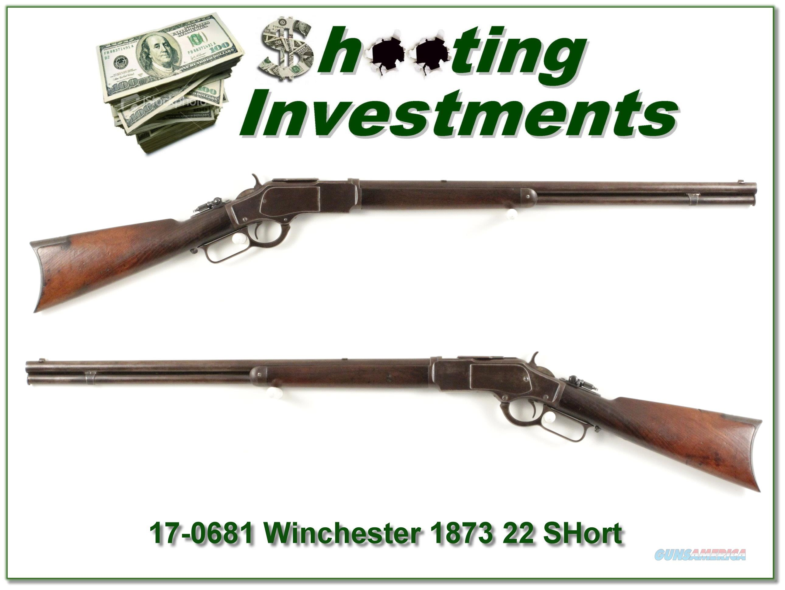 Winchester 1873 in rare 22 short made in 1890  Guns > Rifles > Winchester Rifles - Pre-1899 Lever
