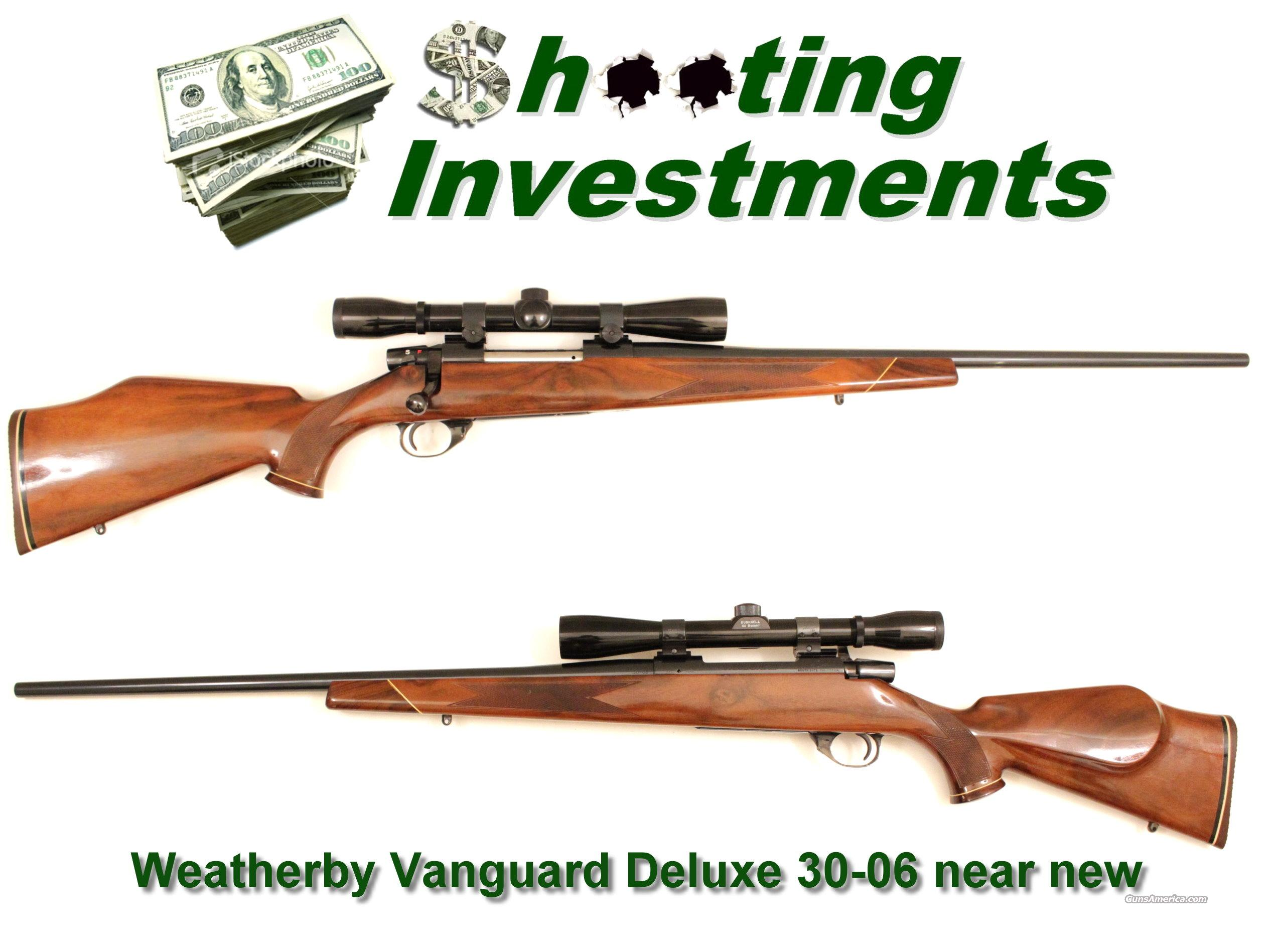 Weatherby Vanguard Deluxe 30-06 Exc Cond with scope  Guns > Rifles > Weatherby Rifles > Sporting
