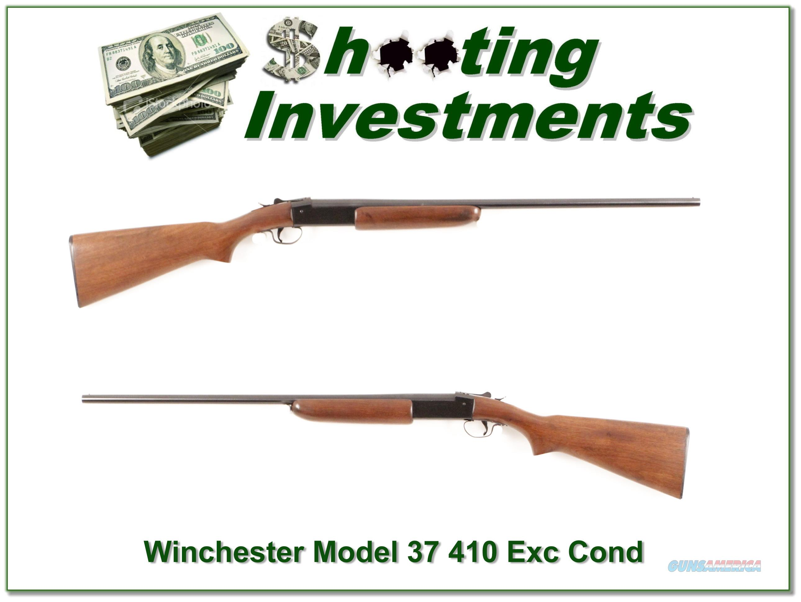 Winchester Model 37 410 Gauge single shot MINT!  Guns > Shotguns > Winchester Shotguns - Modern > Bolt/Single Shot