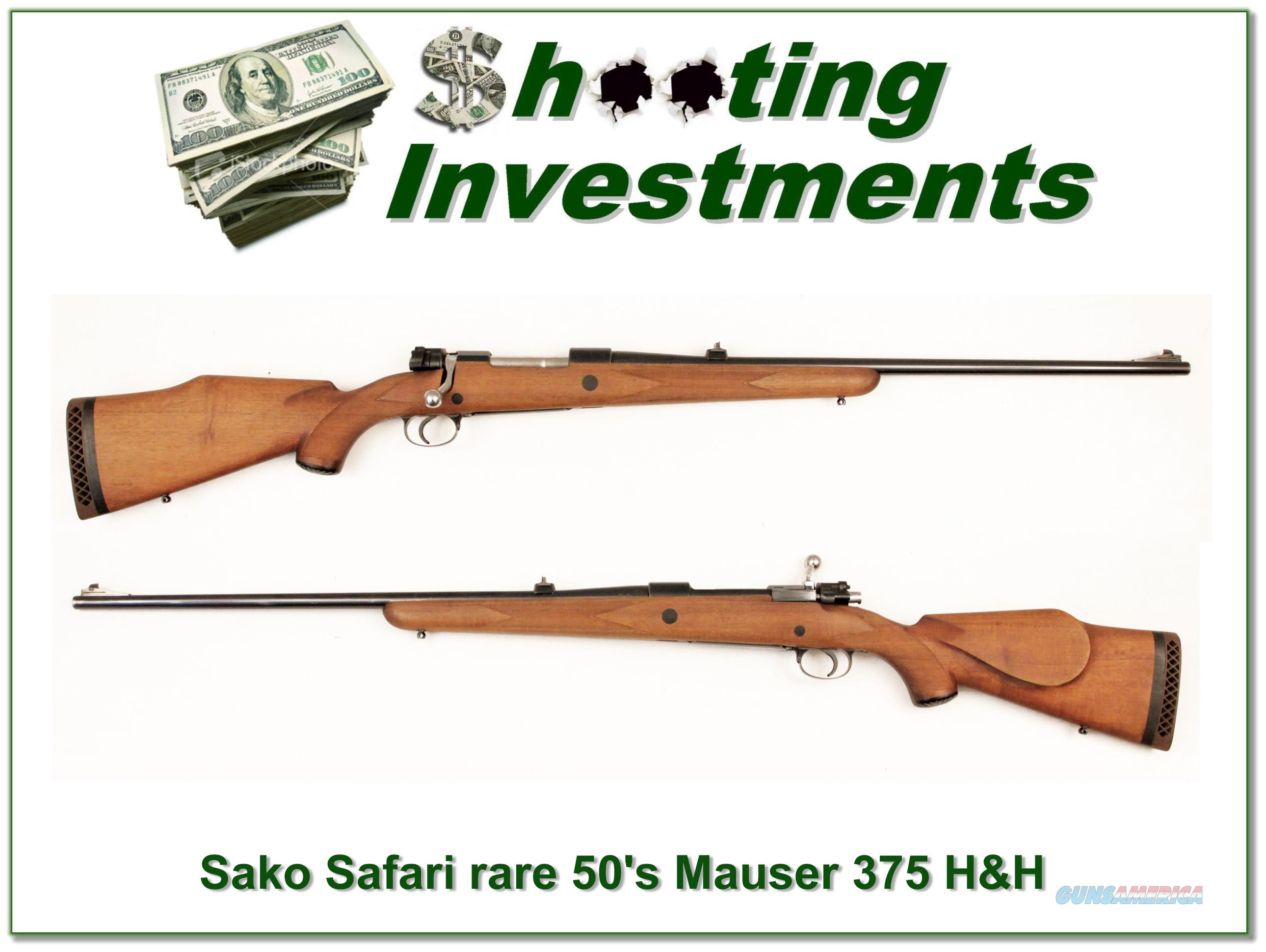 Sako Safari Mauser in 375 H&H Bofers Steel, Exc Cond!  Guns > Rifles > Sako Rifles > Other Bolt Action