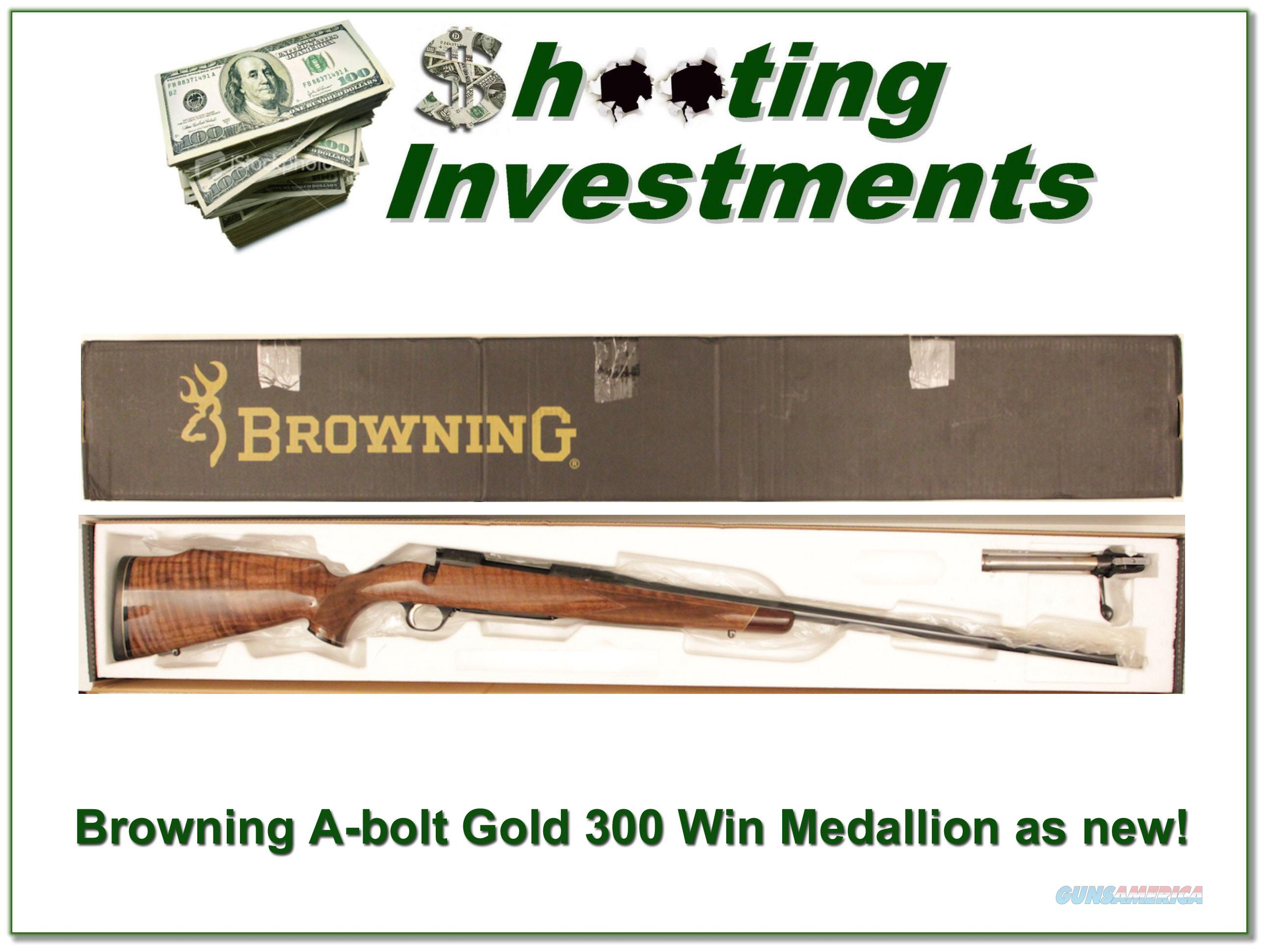 Browning A-bolt Gold Medallion 300 Win new condition!  Guns > Rifles > Browning Rifles > Bolt Action > Hunting > Blue