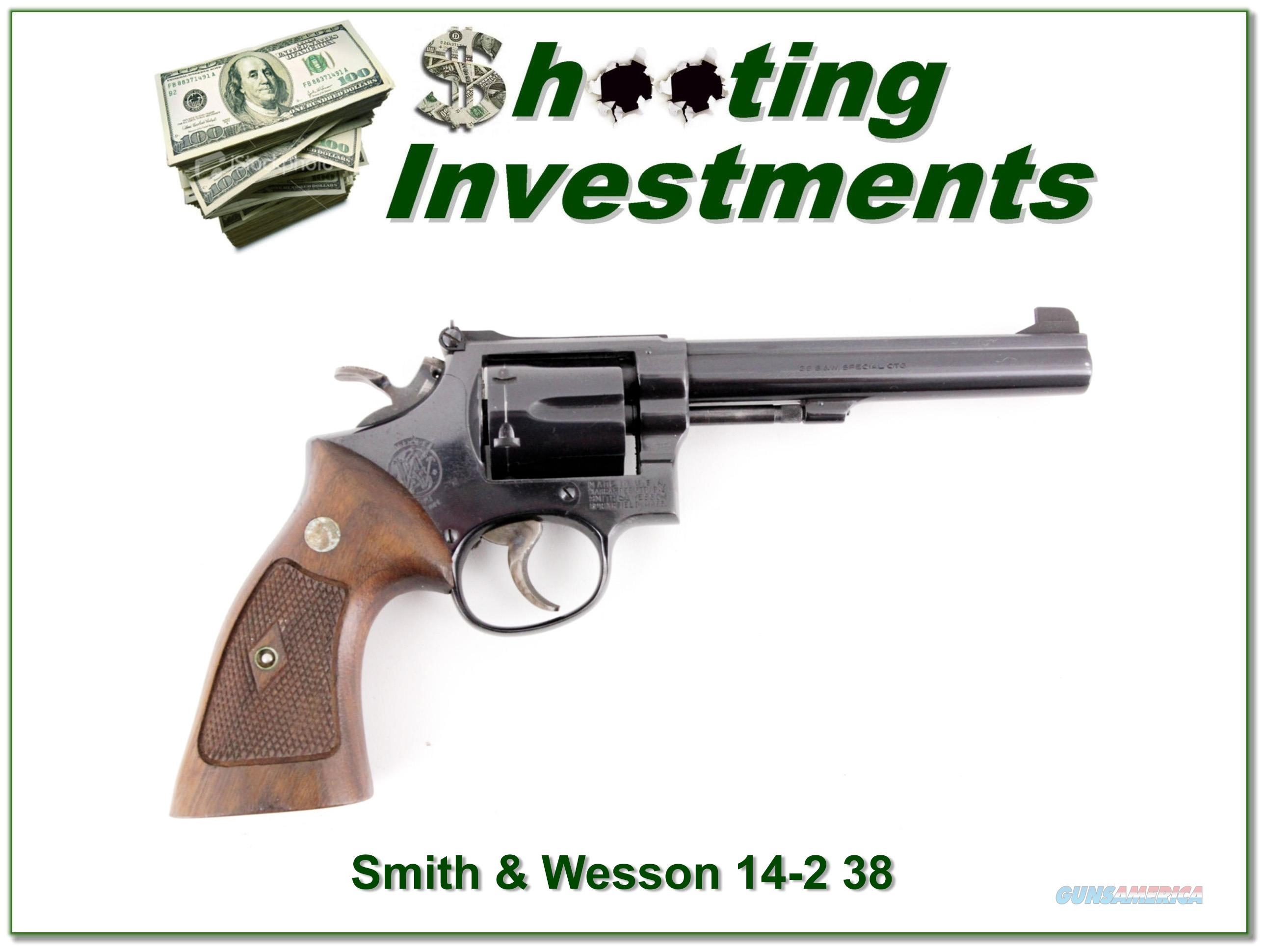 Smith & Wesson 14-2 38 Special 6in blued Exc Cond  Guns > Pistols > Smith & Wesson Revolvers > Full Frame Revolver