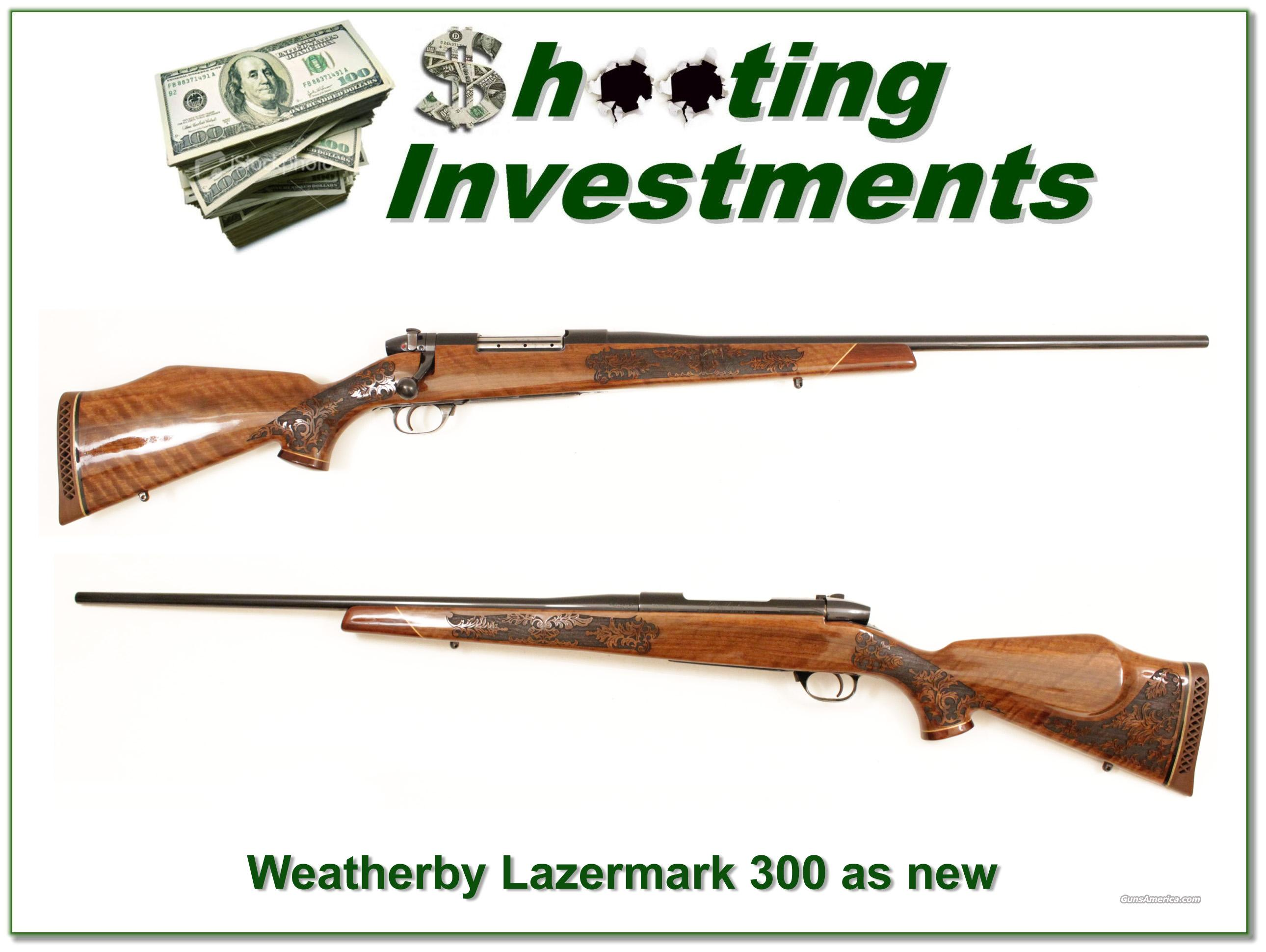 Weatherby Mark V 5 Panel Lazermark. 300 near new  Guns > Rifles > Weatherby Rifles > Sporting