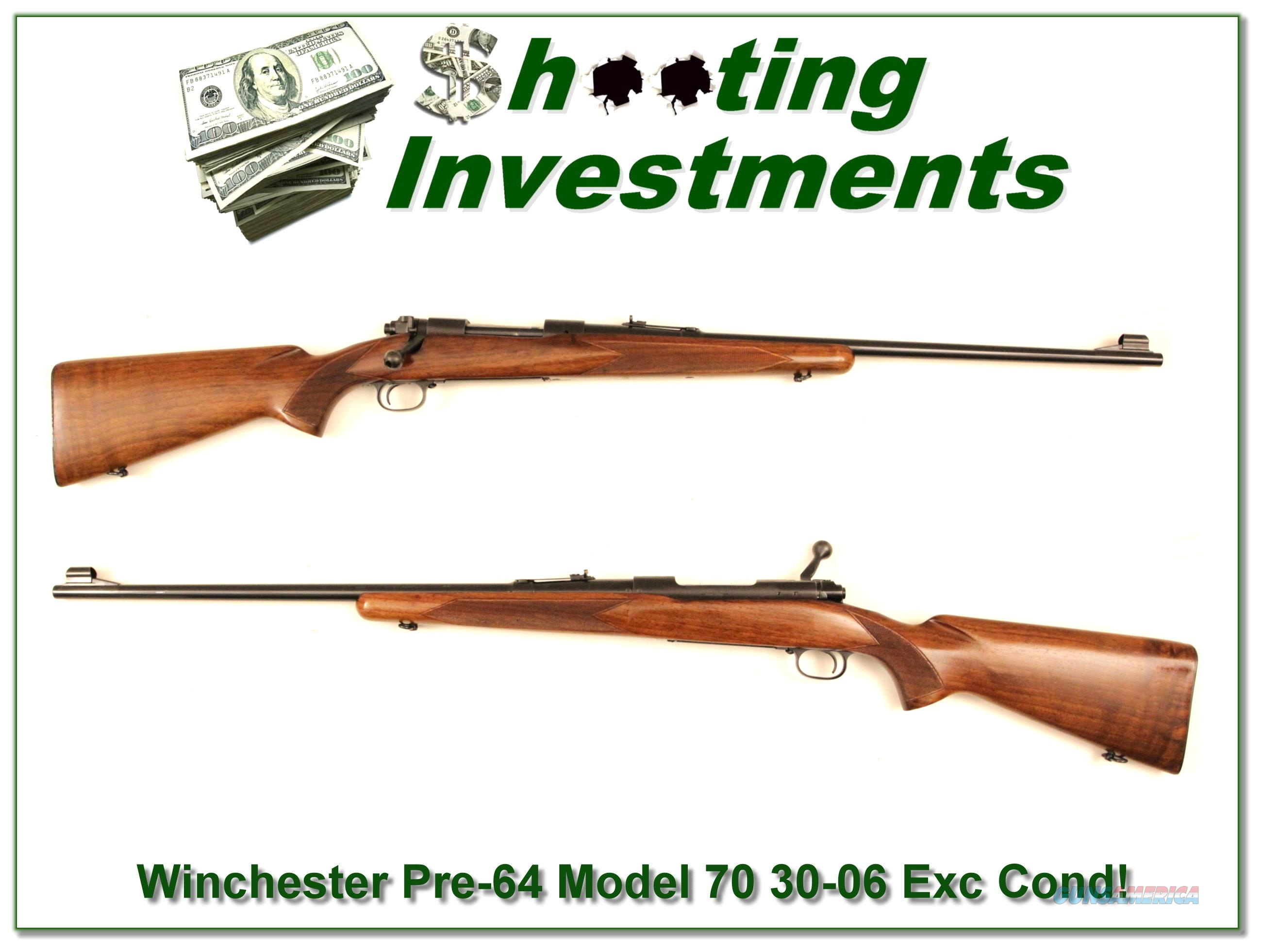 Winchester Pre-64 Model 70 1955 30-06 Exc Cond!  Guns > Rifles > Winchester Rifles - Modern Bolt/Auto/Single > Model 70 > Pre-64