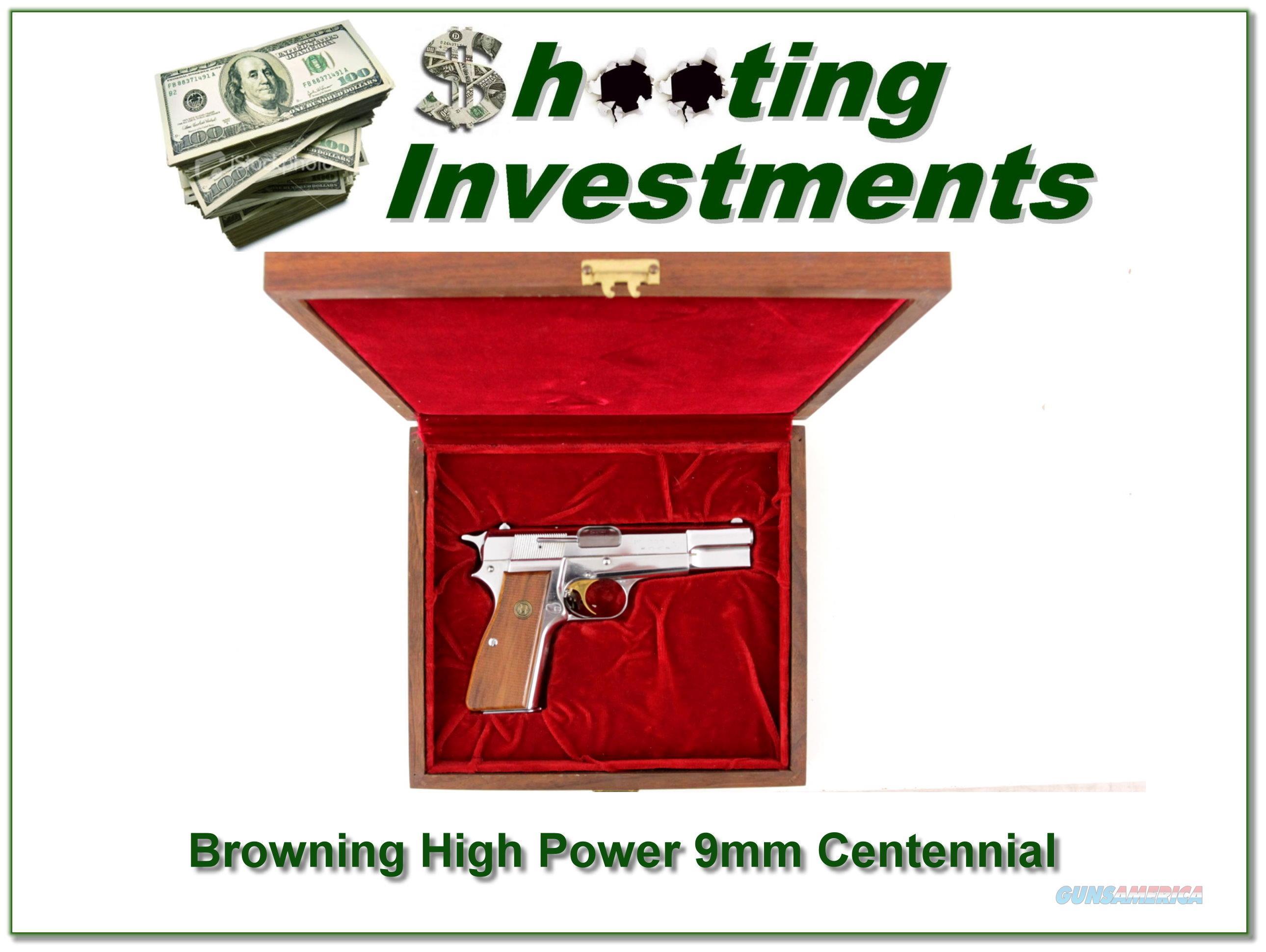 Browning High Power 9mm Centennial New in case  Guns > Pistols > Browning Pistols > Hi Power