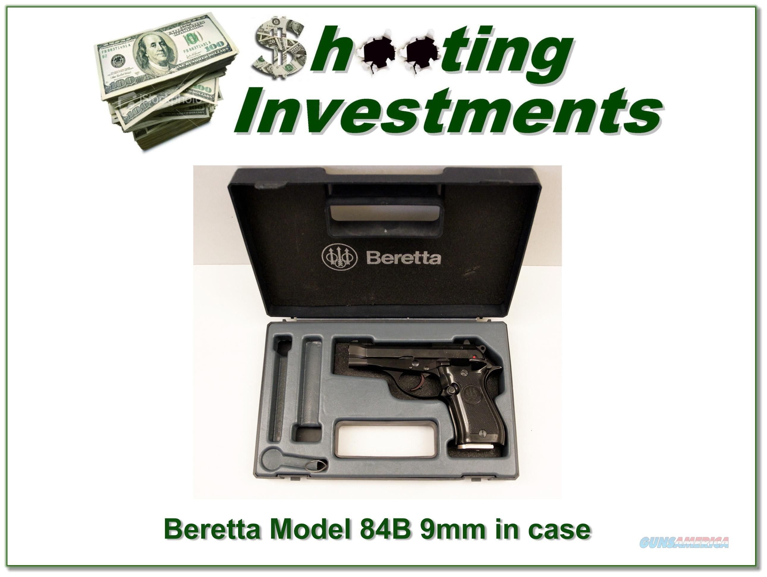 Beretta 84B 380 in box .9 Short  Guns > Pistols > Beretta Pistols > Small Caliber Tip Out