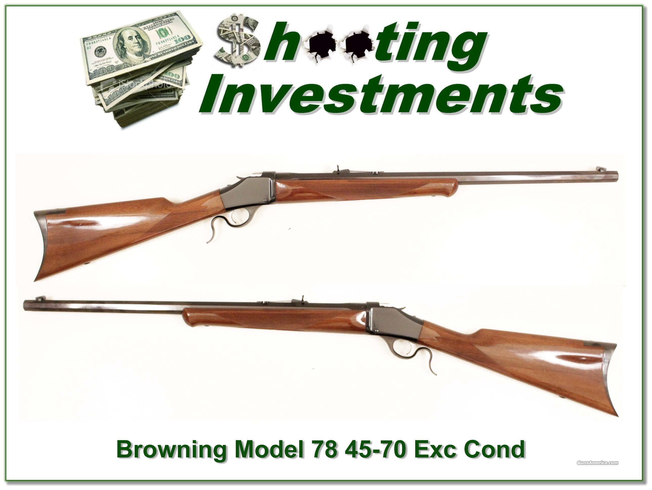 Browning Model 78 45-70 Exc Cond  Guns > Rifles > Browning Rifles > Singe Shot