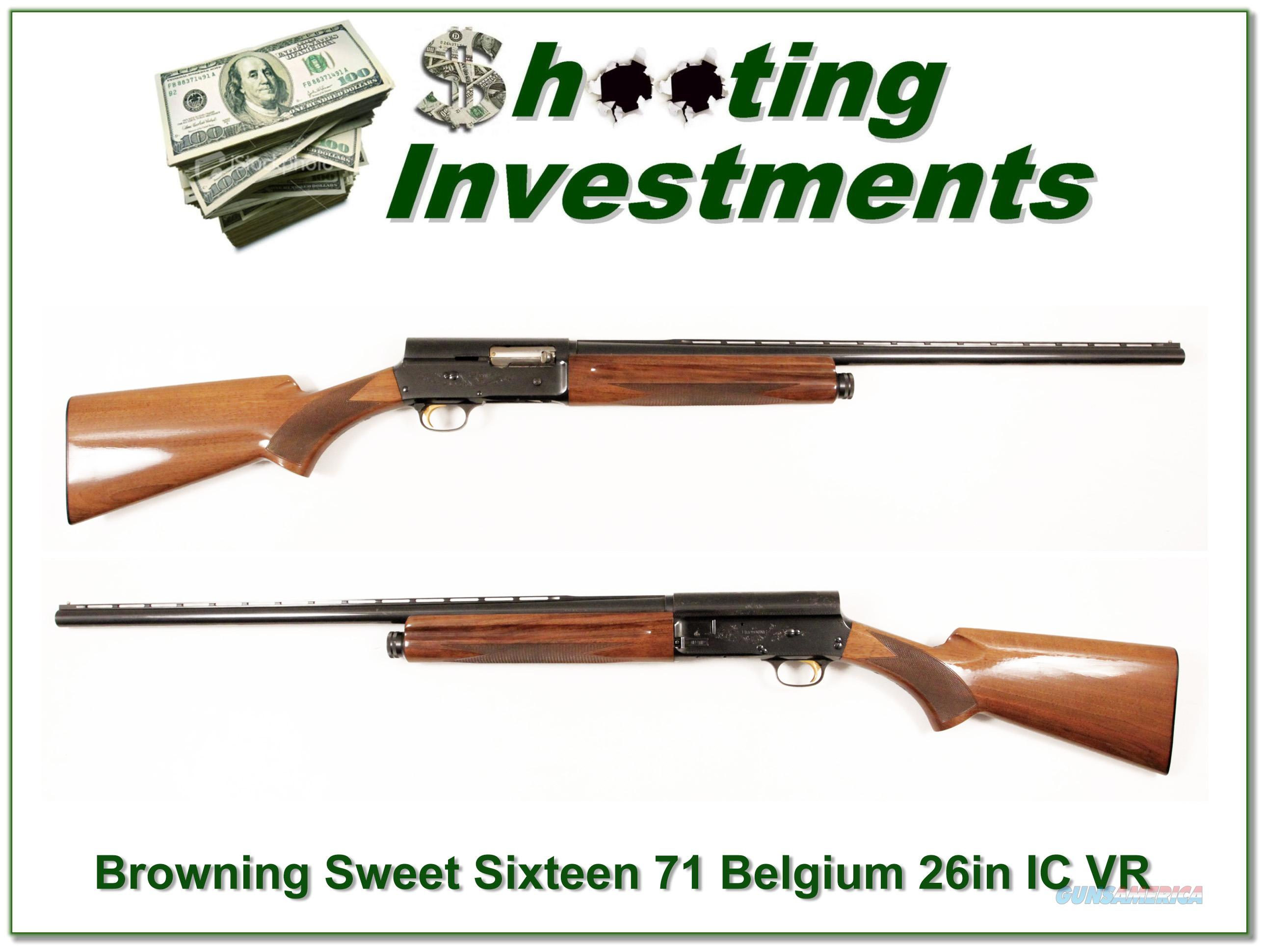 Browning A5 Sweet Sixteen 26in IC VR Exc Cond!  Guns > Shotguns > Browning Shotguns > Autoloaders > Hunting