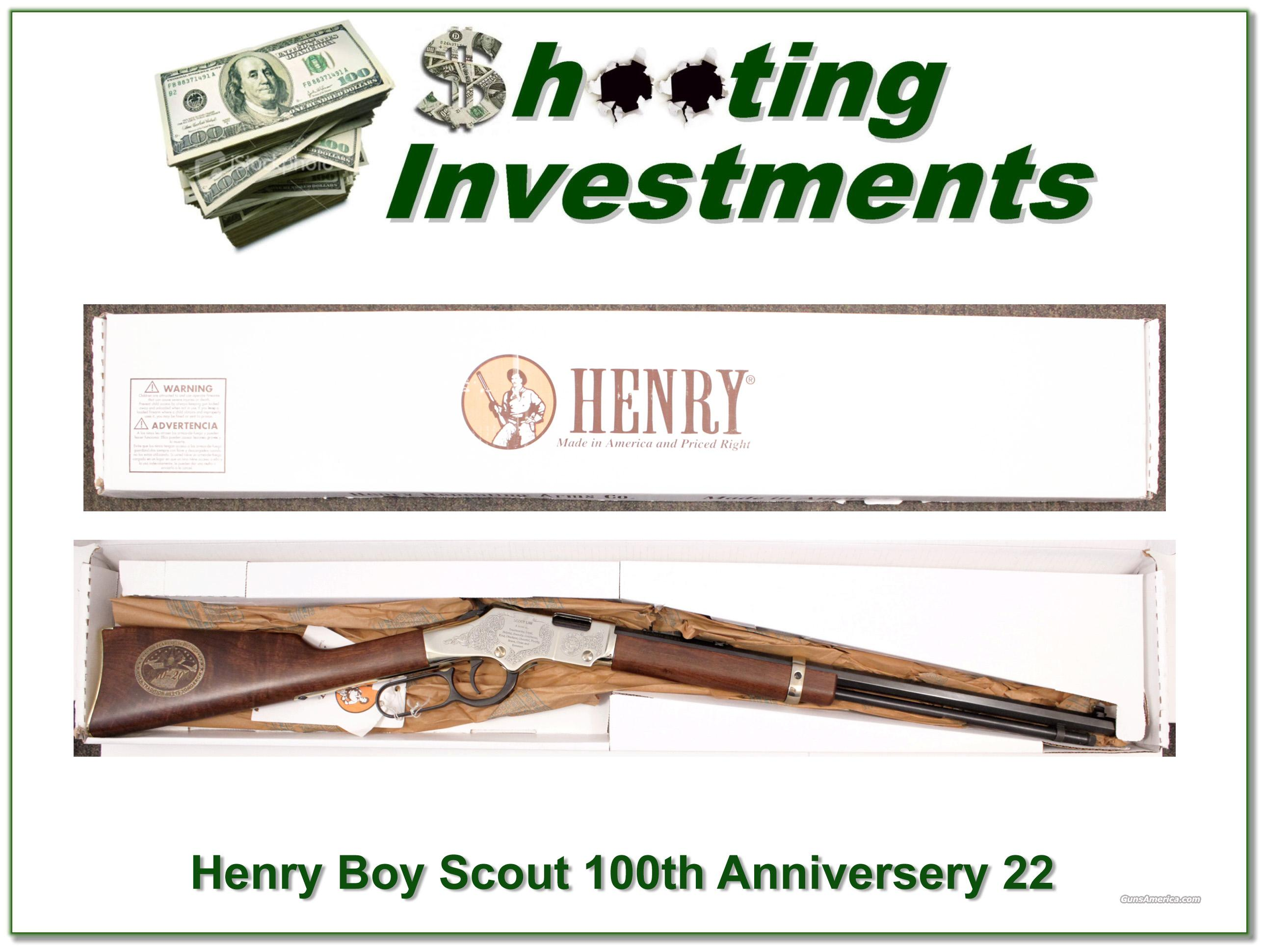 "Henry Golden Boy Scout Centennial Rifle 20"" NIB  Guns > Rifles > Henry Rifle Company"