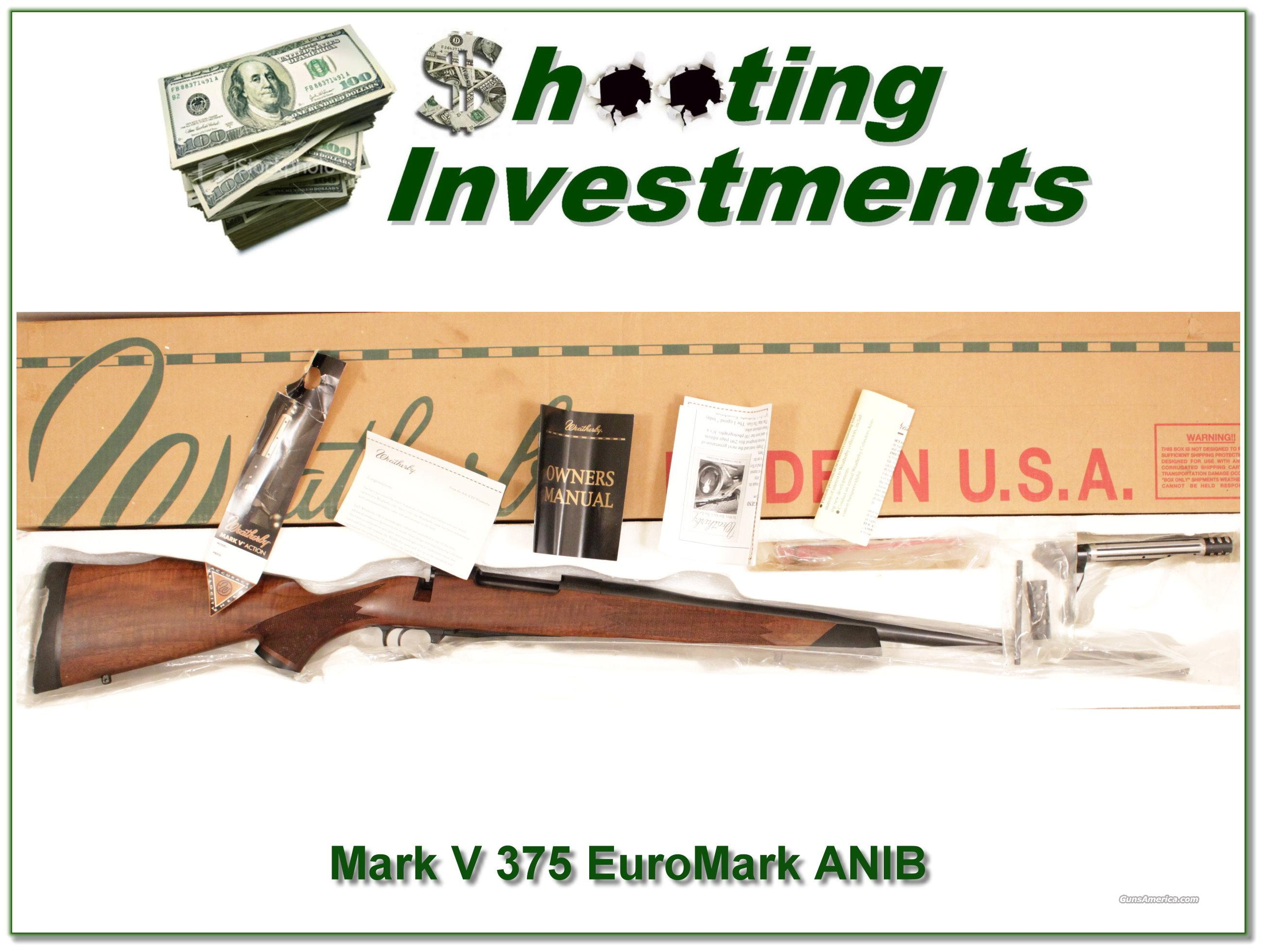 Weatherby Mark V Euromark 375 H&H ANIB  Guns > Rifles > Weatherby Rifles > Sporting