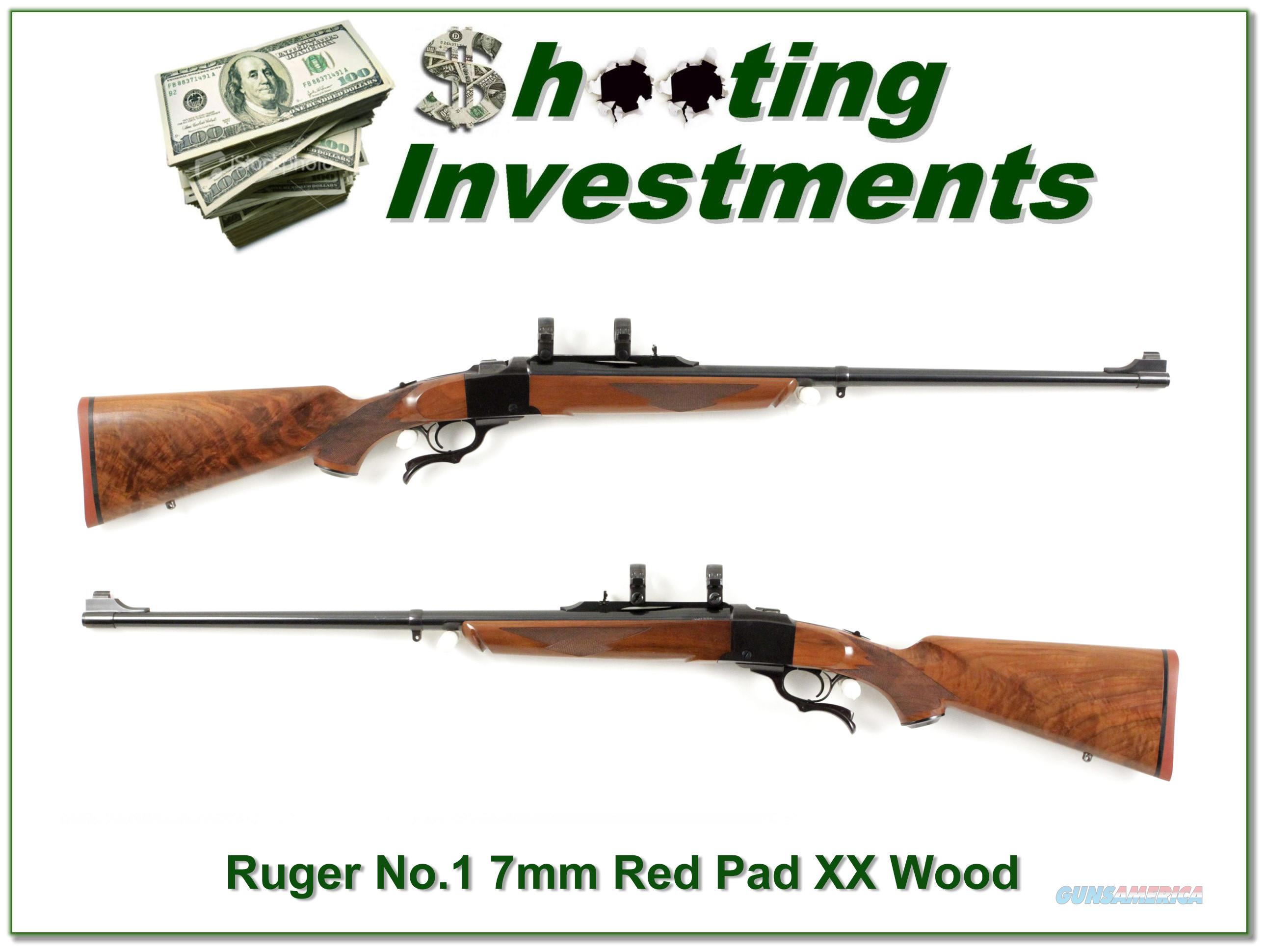 Ruger No. 1 Medium Sporter 7mm Rem Mag Red Pad super wood!  Guns > Rifles > Ruger Rifles > #1 Type