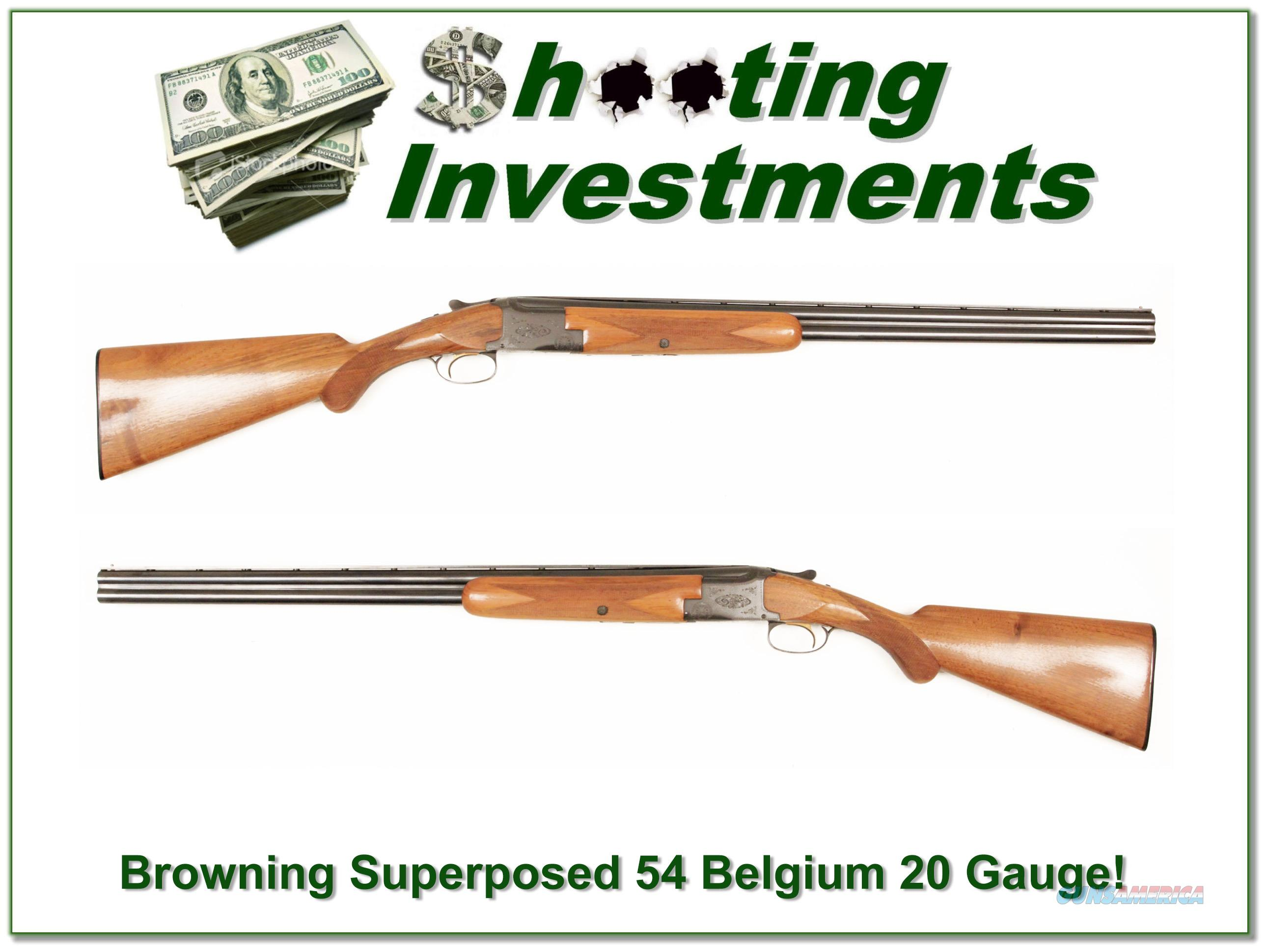 Browning Superposed 20 Gauge 54 Belgium!  Guns > Shotguns > Browning Shotguns > Autoloaders > Hunting