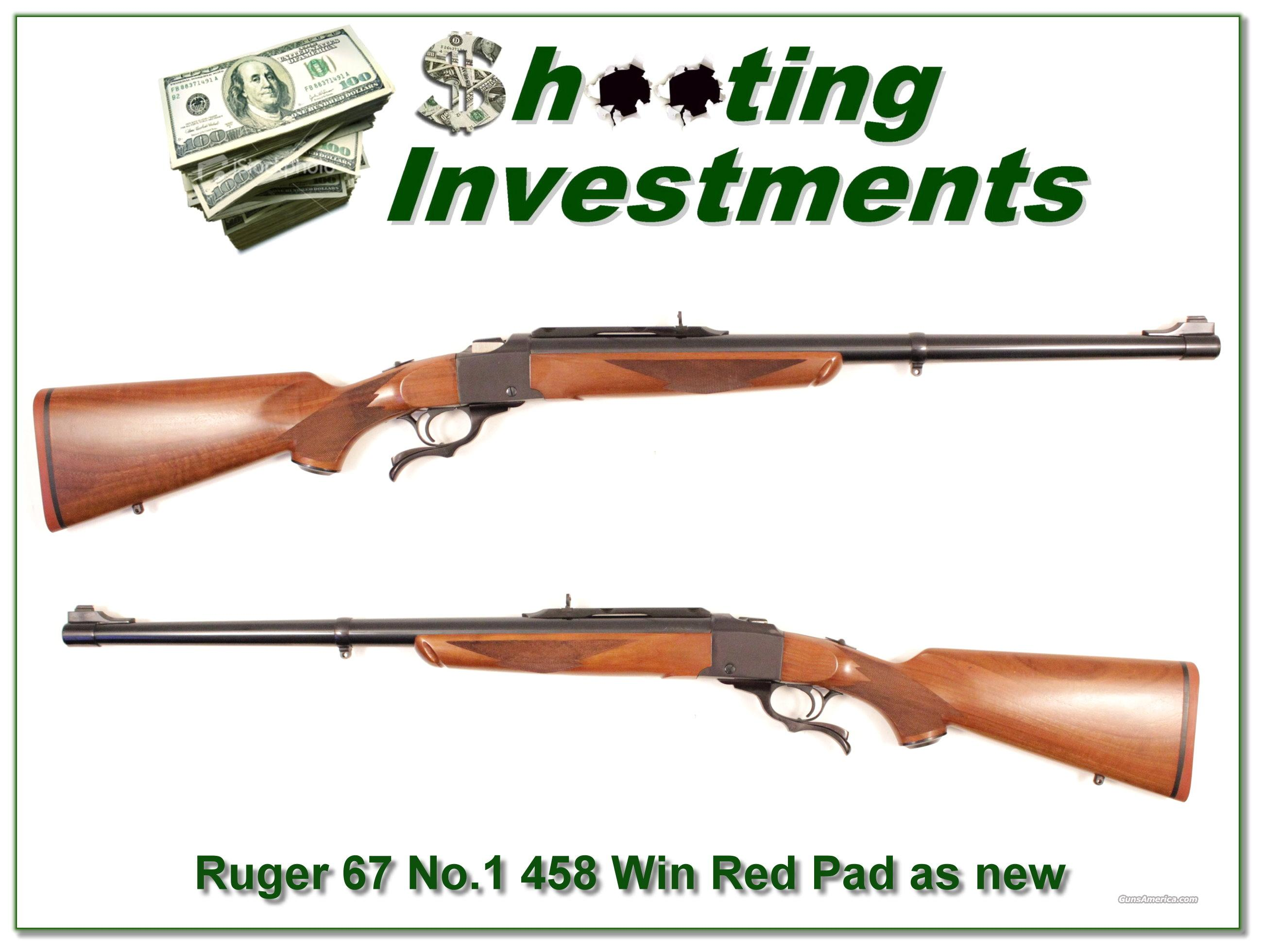 Ruger No. 1 #1 Tropical Red Pad 458 Winchester as new  Guns > Rifles > Ruger Rifles > #1 Type