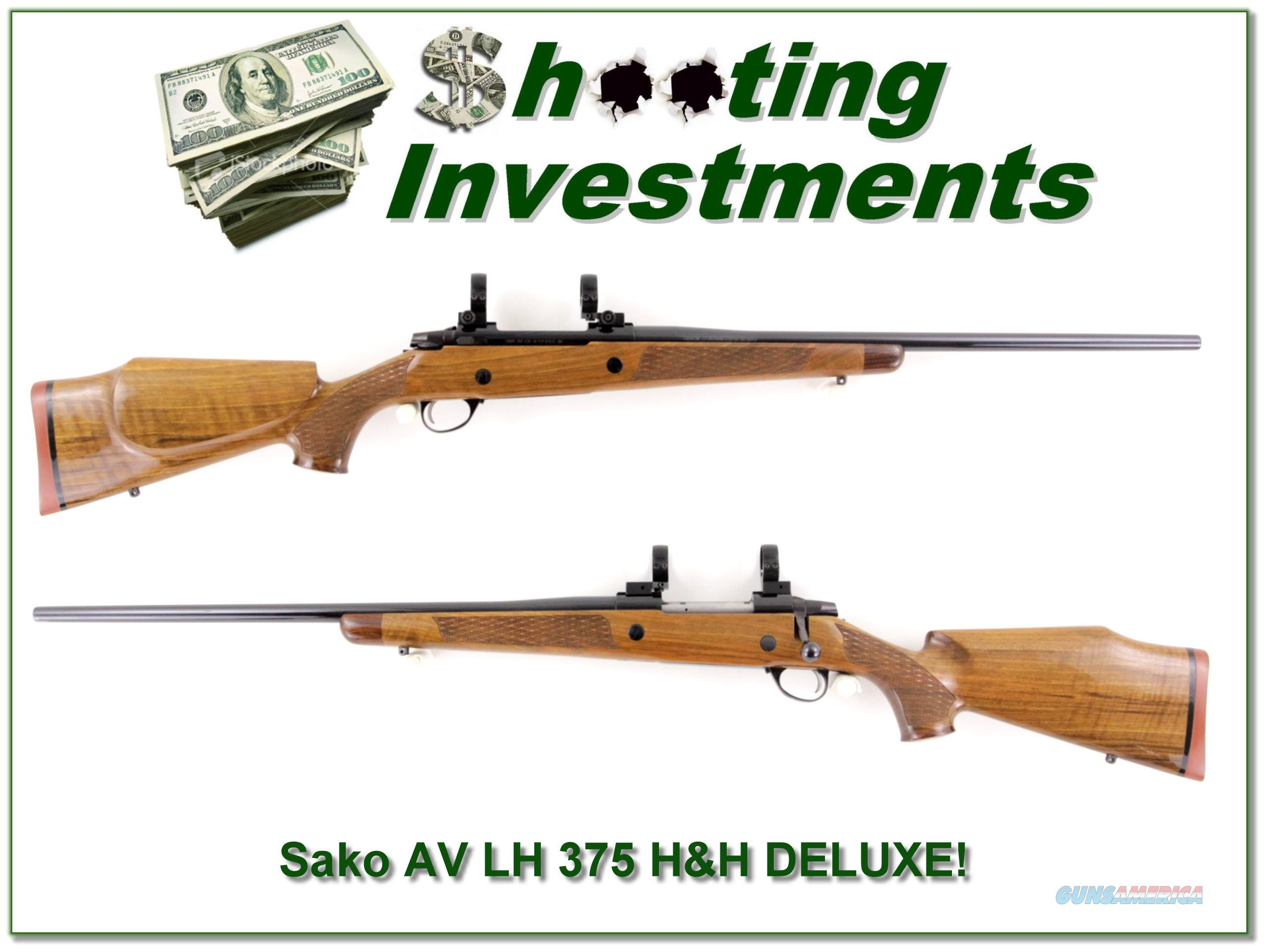 Sako AV Deluxe Left Handed 375 H&H  Guns > Rifles > Sako Rifles > Other Bolt Action