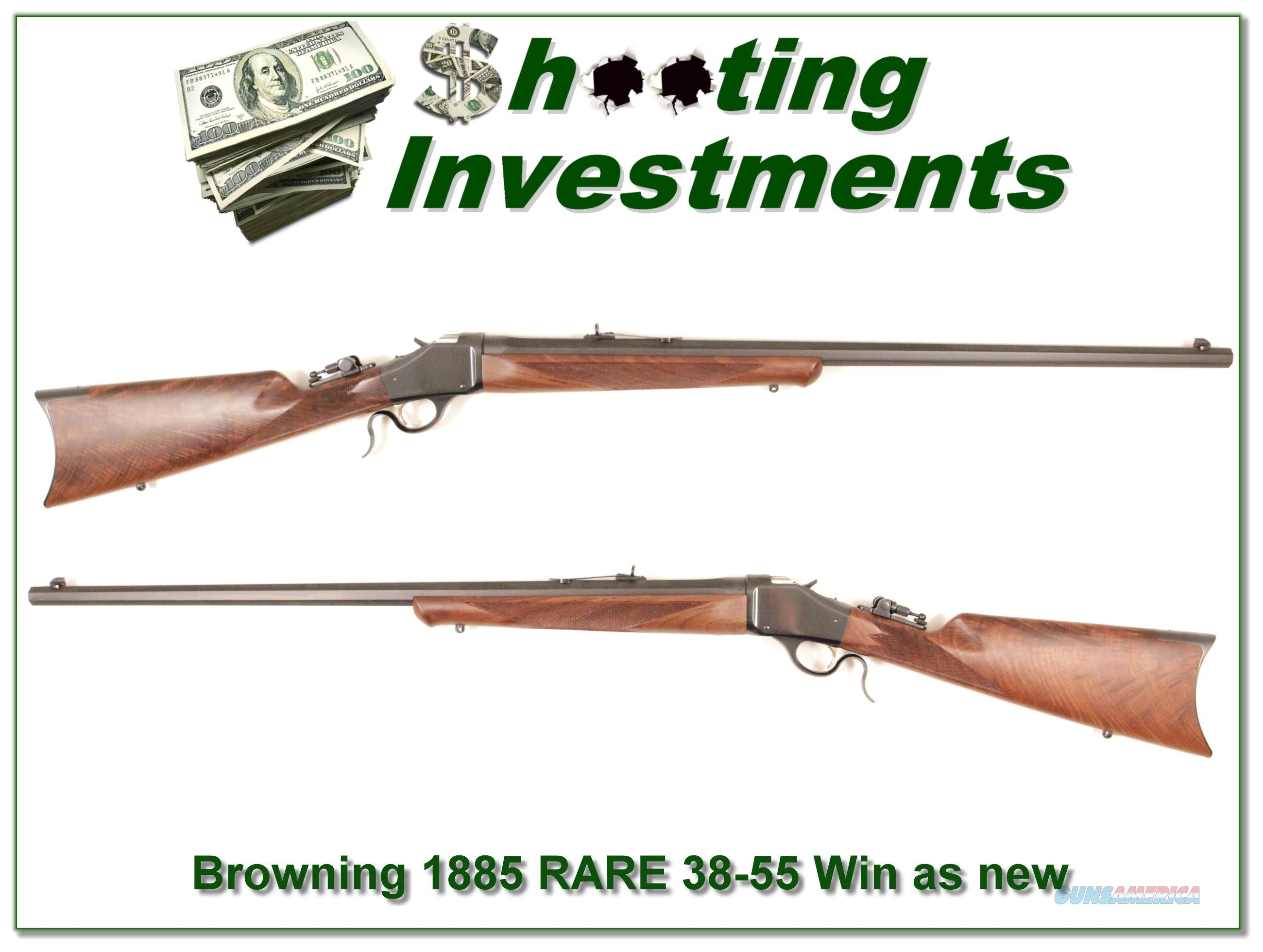 Browning 1885 rare .38-55 Win unfired XX Wood!  Guns > Rifles > Browning Rifles > Singe Shot