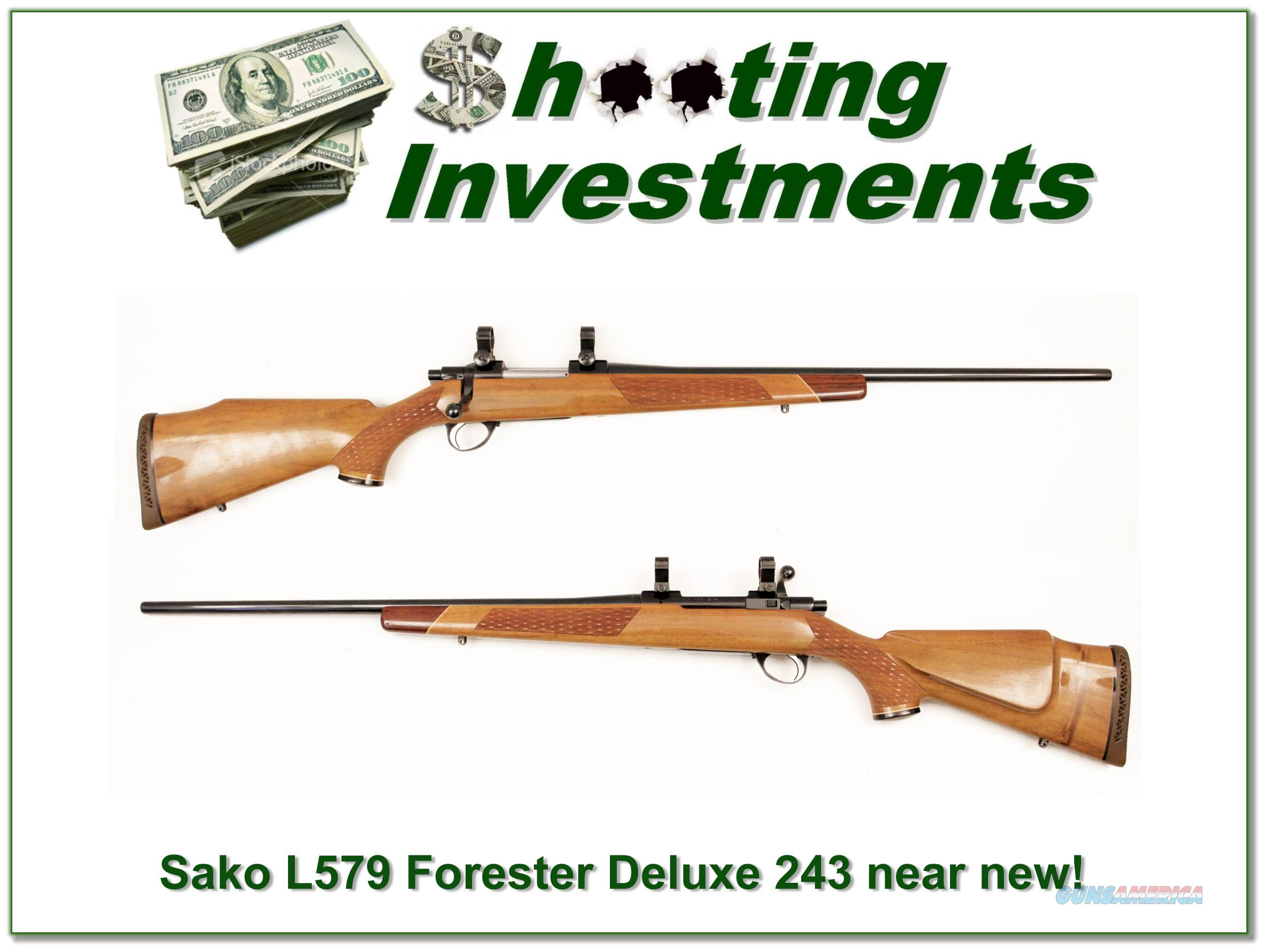 Sako Forester L579 Deluxe 243 Mint!  Guns > Rifles > Sako Rifles > Other Bolt Action