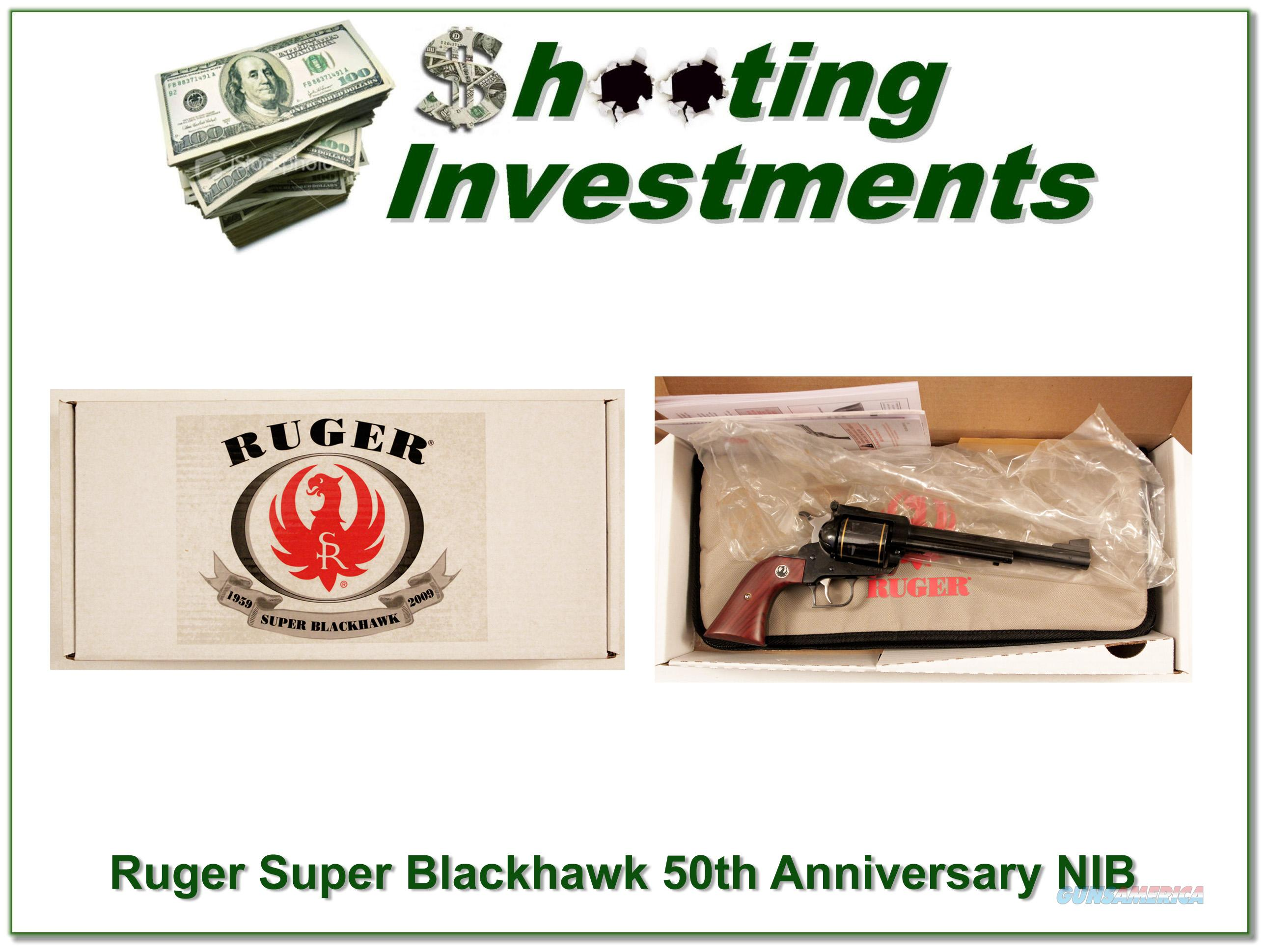 Ruger Super Blackhawk 44 Magnum 50th Anniversary NIB  Guns > Pistols > Ruger Single Action Revolvers > Blackhawk Type