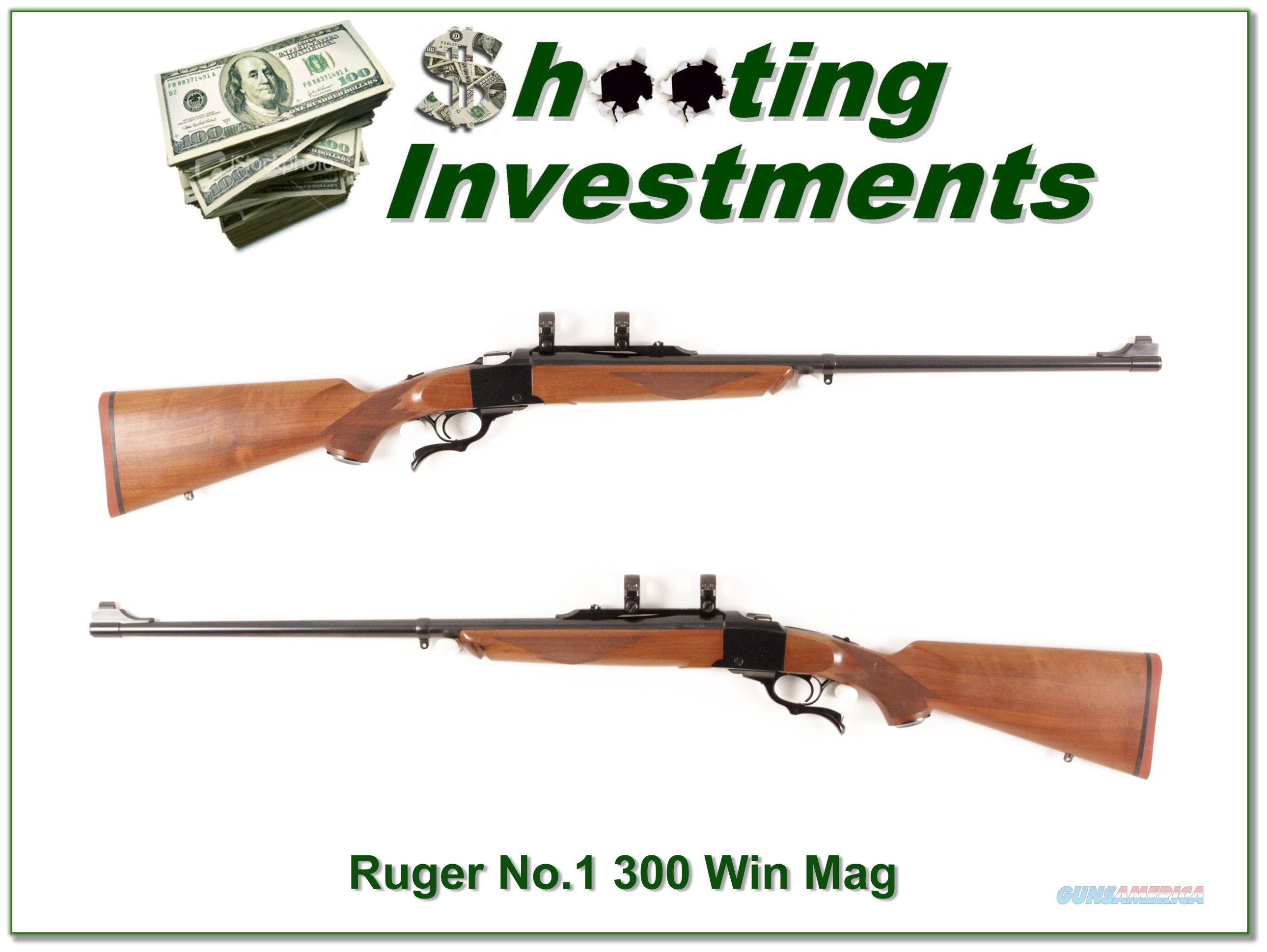 Ruger No. 1 Medium Sporter 300 Win Mag Red Pad near new!  Guns > Rifles > Ruger Rifles > #1 Type