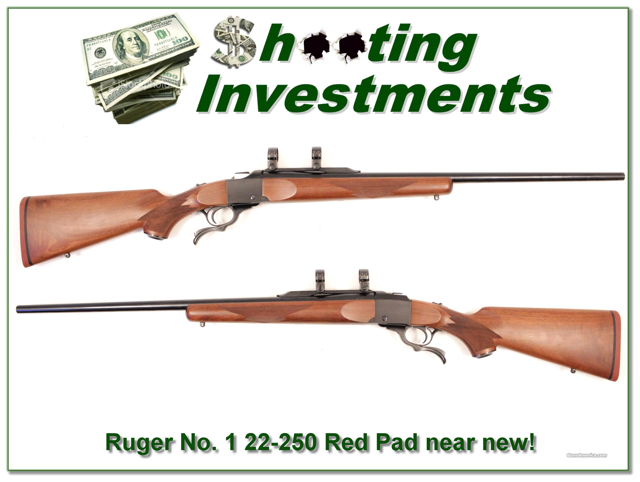 "Ruger No. 1 22-250 Rem ""Red Pad"" near new!  Guns > Rifles > Ruger Rifles > #1 Type"