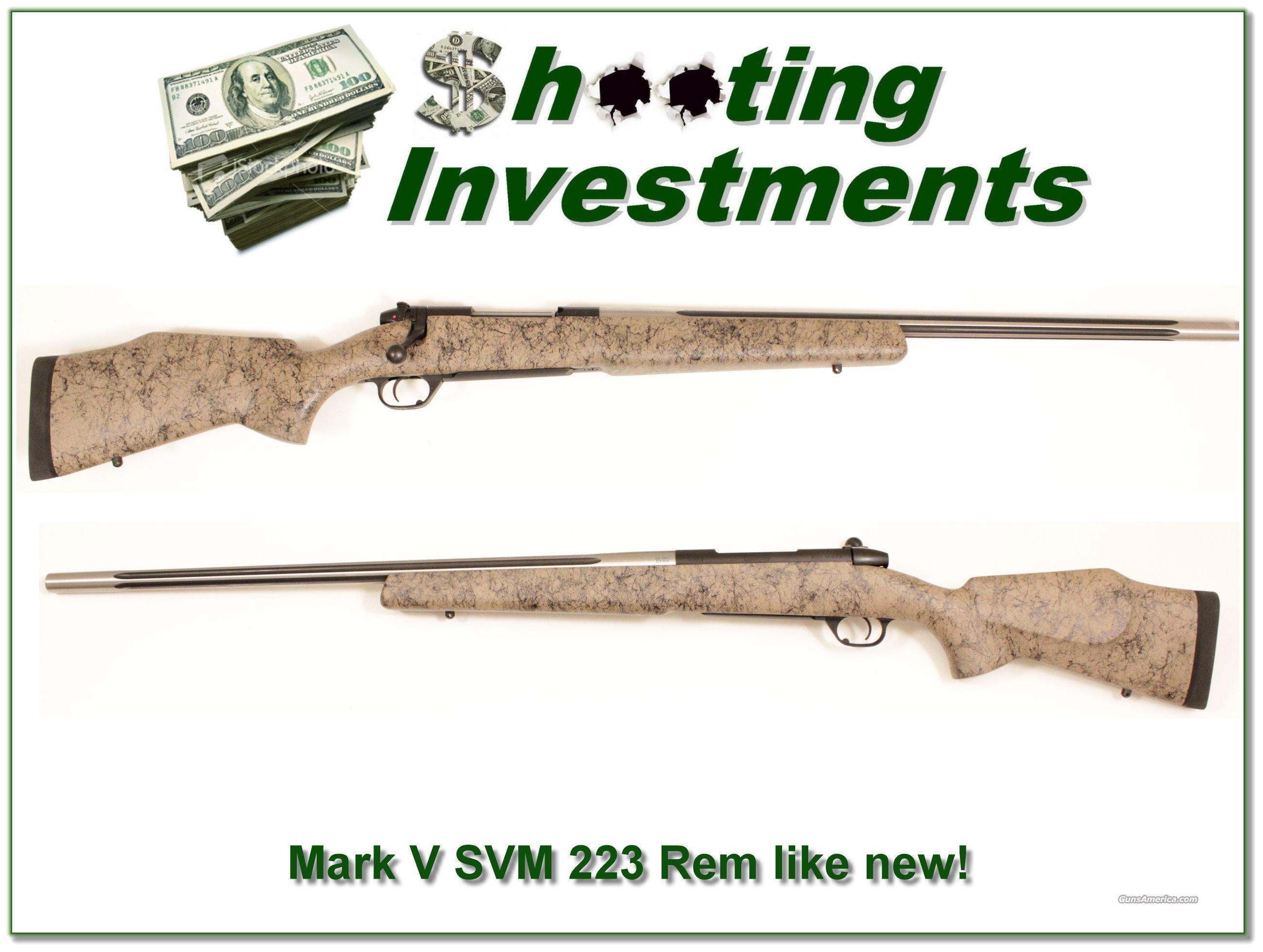 Weatherby Mark V Super Varmint Master 223 Like New!  Guns > Rifles > Weatherby Rifles > Sporting