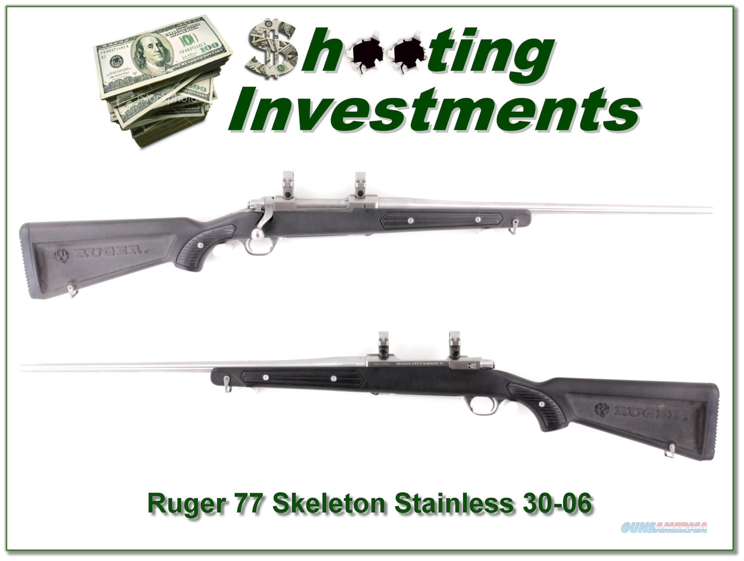 Ruger 77 All-Weather Stainless Skeleton 30-06 Exc Cond  Guns > Rifles > Ruger Rifles > Model 77