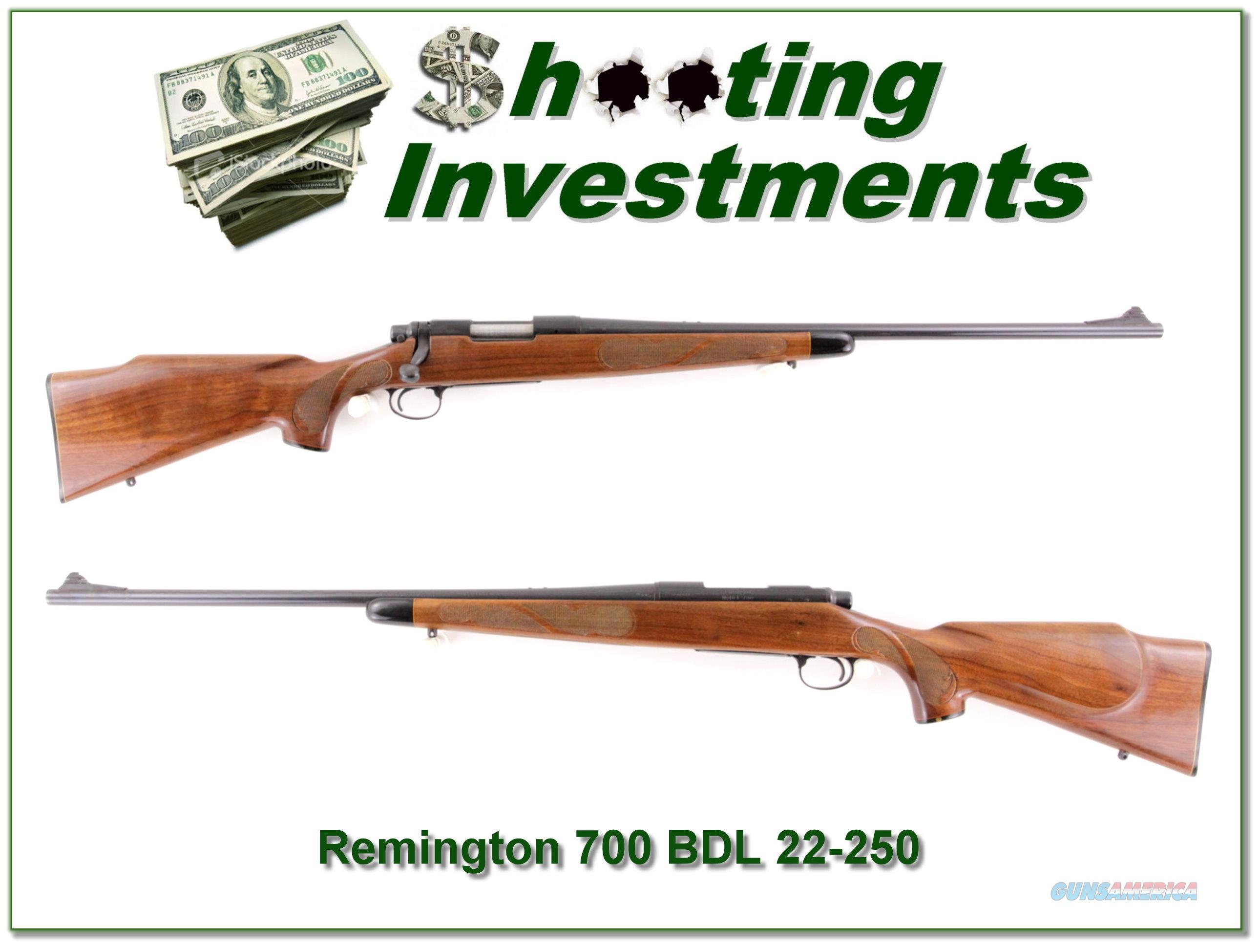 Remington 700 BDL 22-250 Pressed Checkering  Guns > Rifles > Remington Rifles - Modern > Model 700 > Sporting