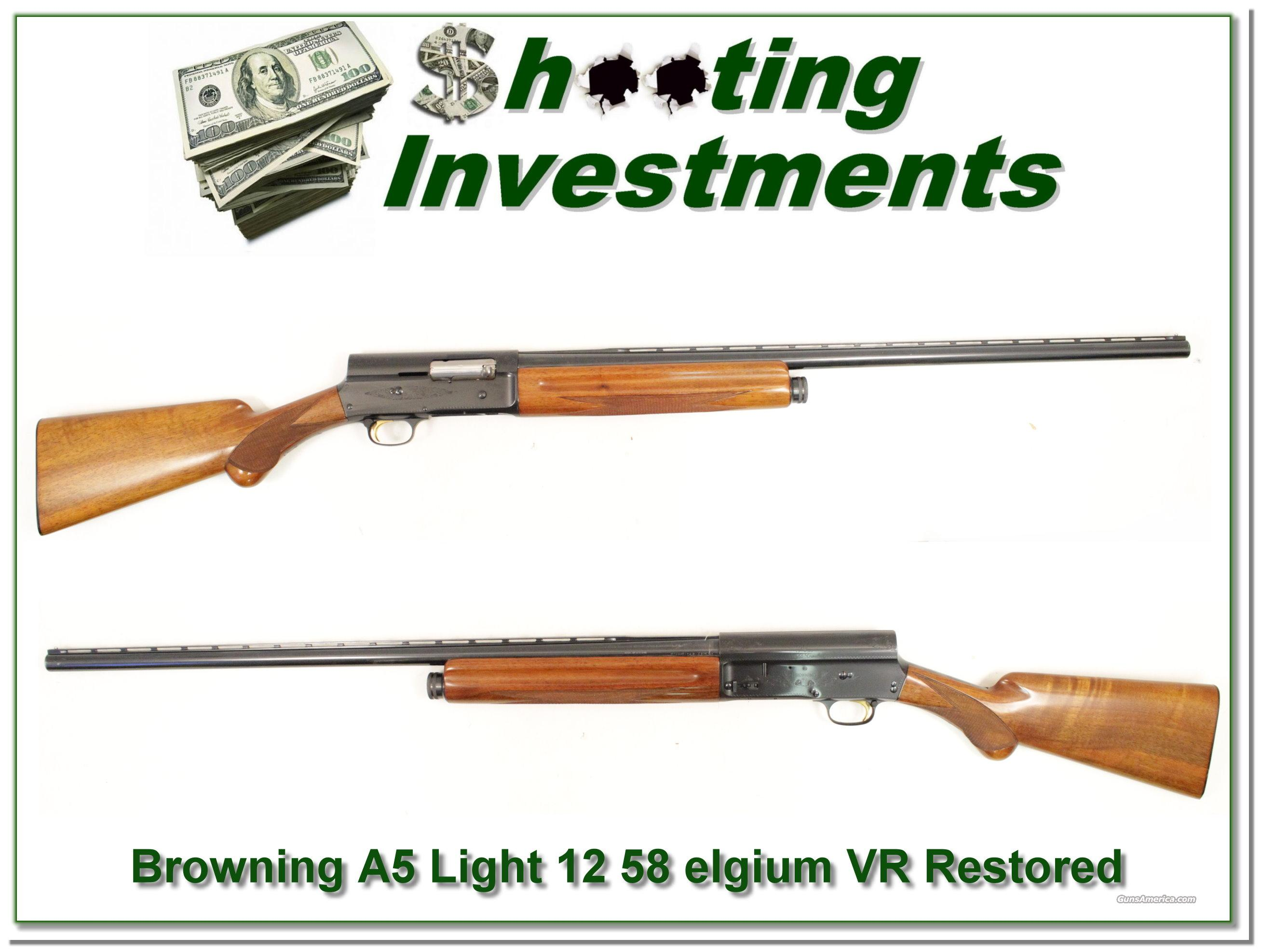 Browning A5 Light 12 58 Belgium 30in VR  Guns > Shotguns > Browning Shotguns > Autoloaders > Hunting