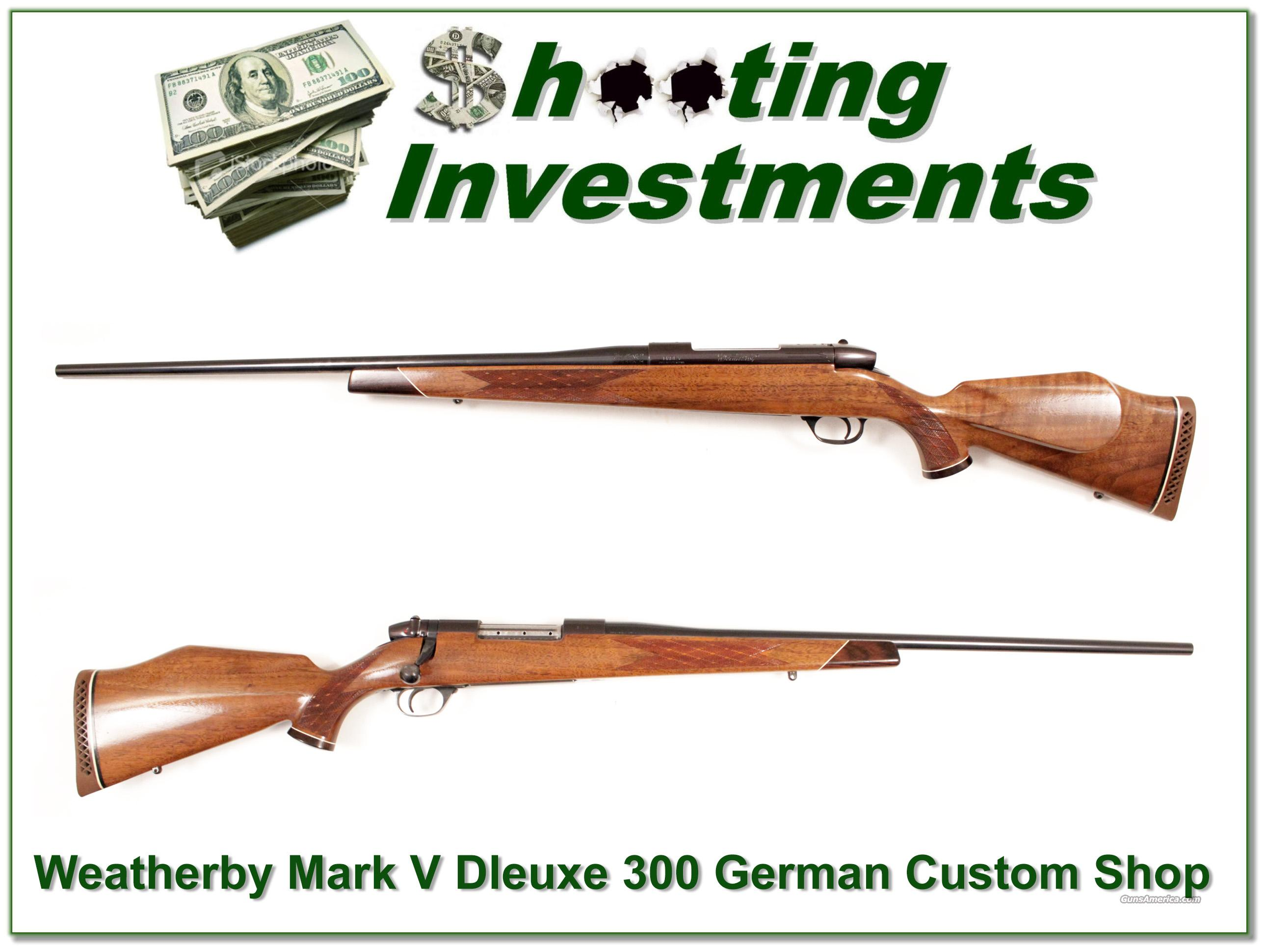 Weatherby Mark V Deluxe 300 Wthy 1962 German near new  Guns > Rifles > Weatherby Rifles > Sporting