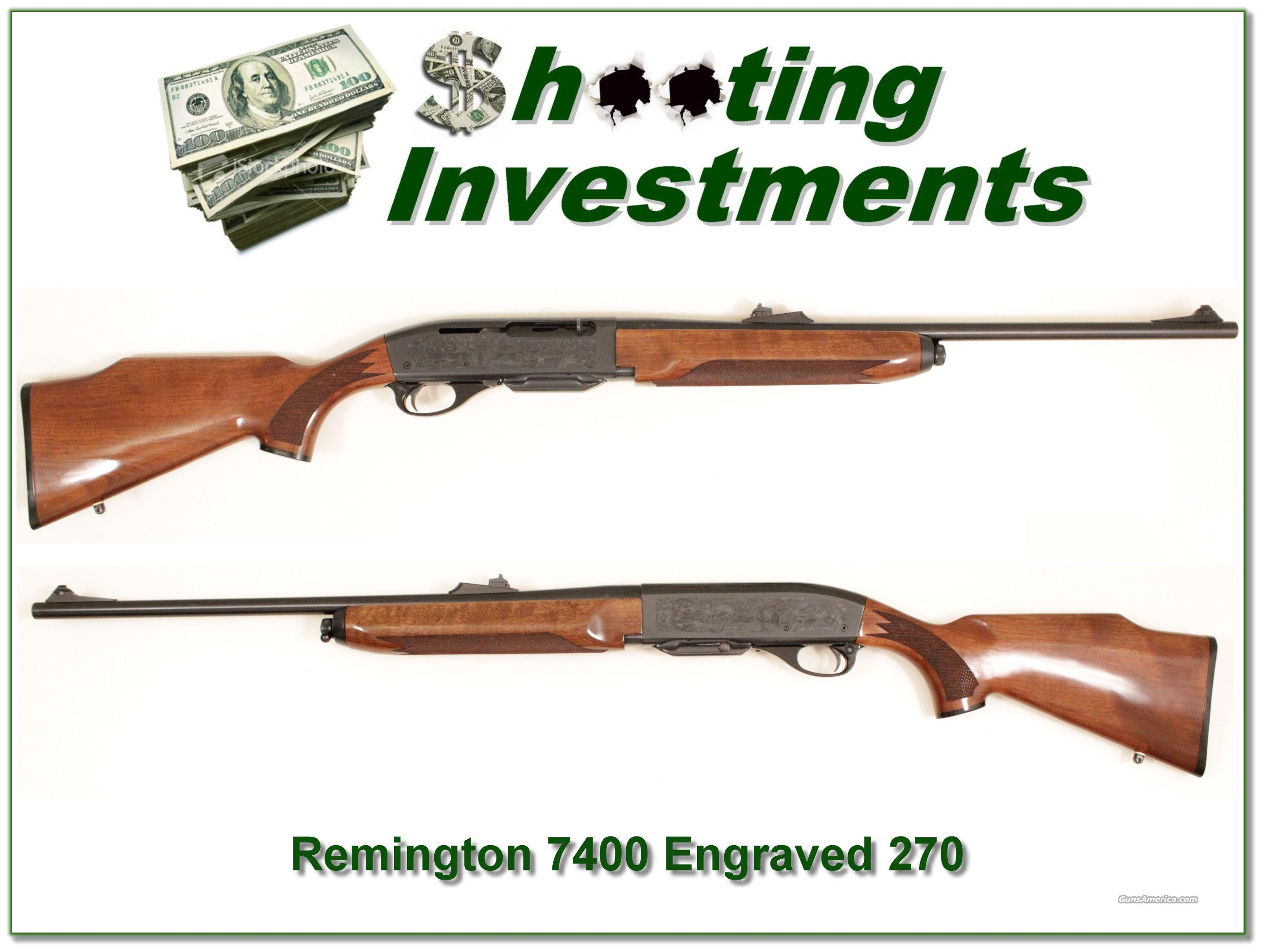Remington 7400 Deluxe 270 Win Exc Cond!  Guns > Rifles > Remington Rifles - Modern > Other