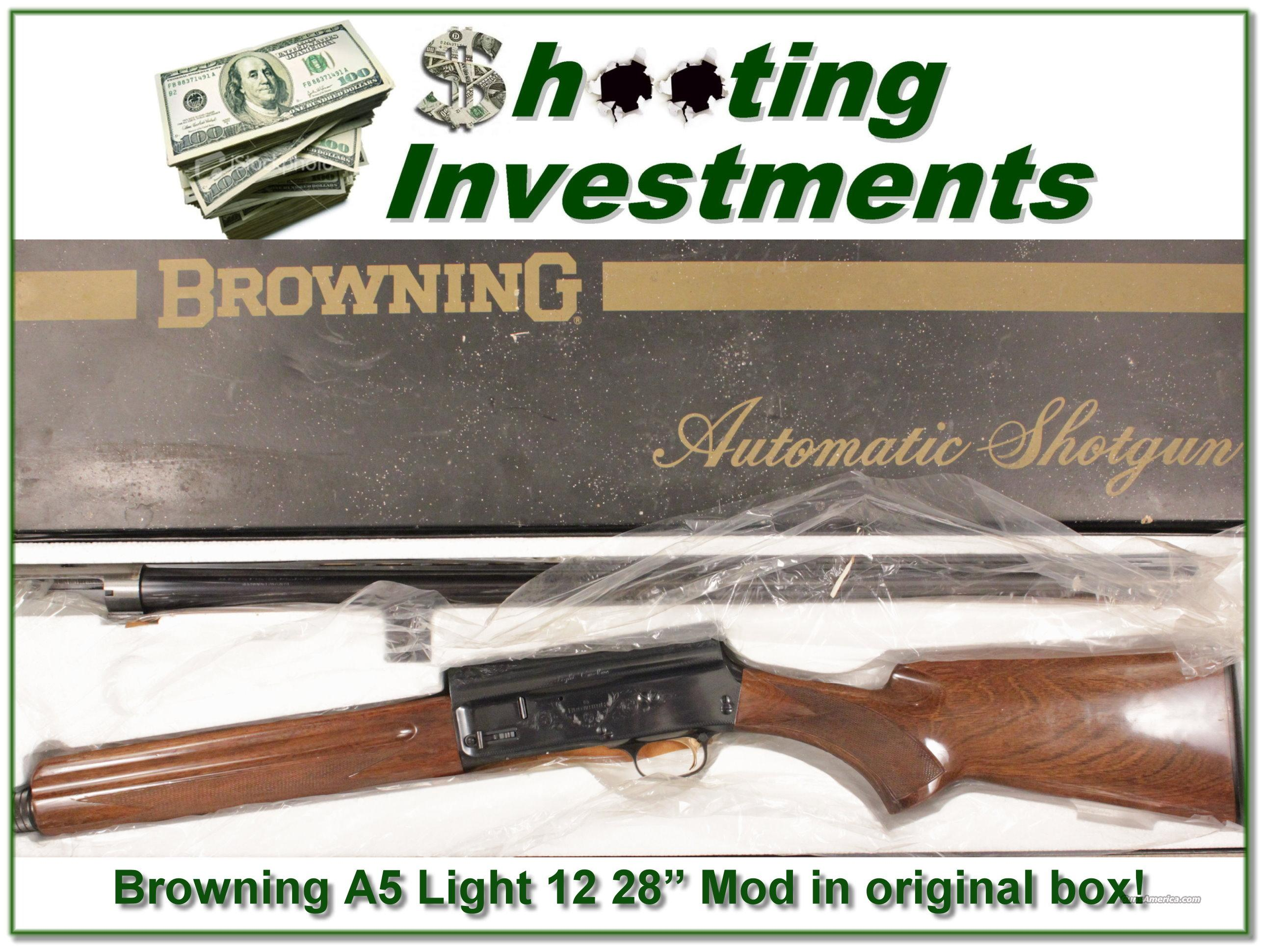 "Browning A5 Light 12 28"" Mod in original box!  Guns > Shotguns > Browning Shotguns > Autoloaders > Hunting"