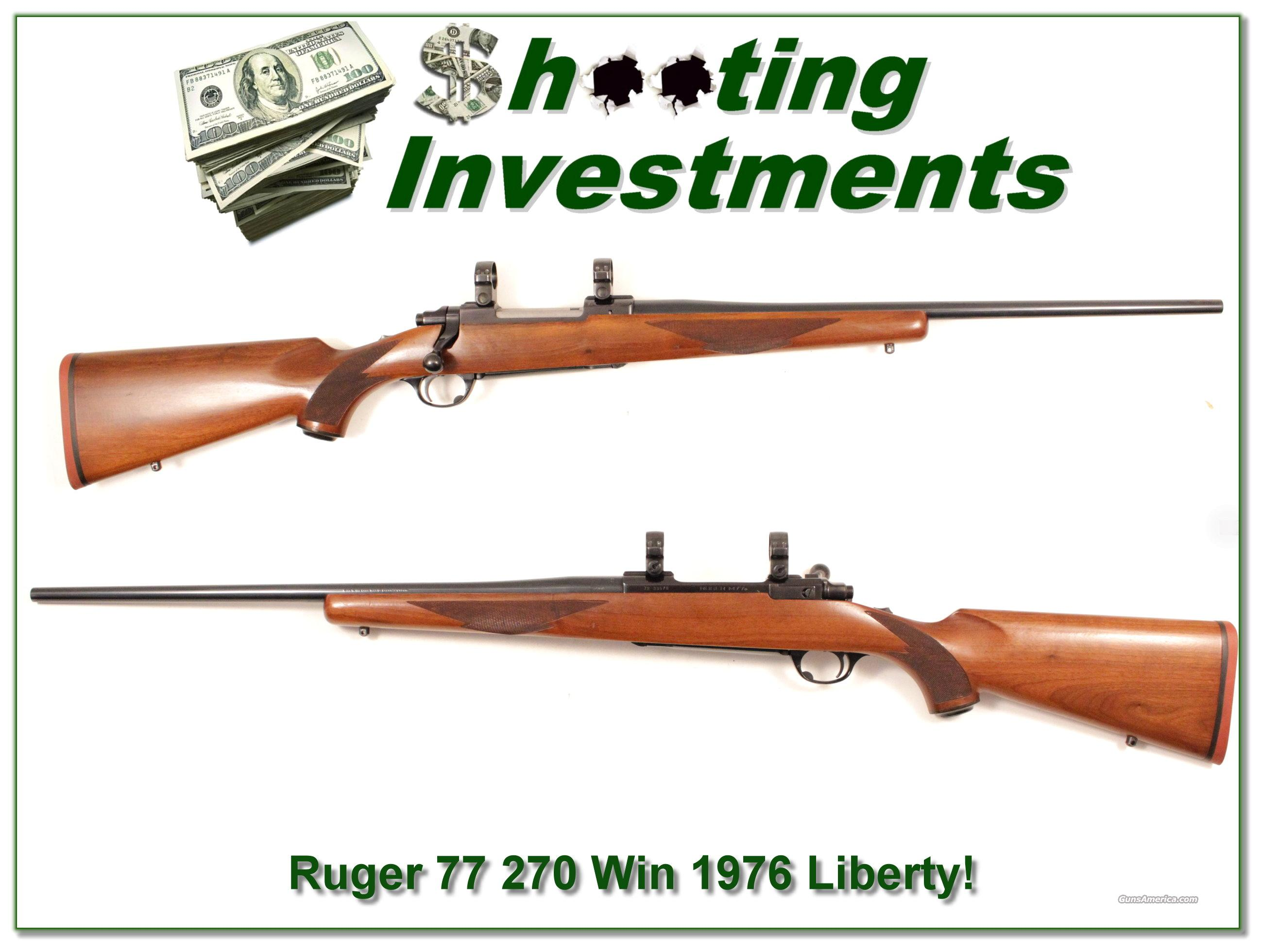 Ruger Model 77 1976 Liberty model in 270 Winchester!  Guns > Rifles > Ruger Rifles > Model 77