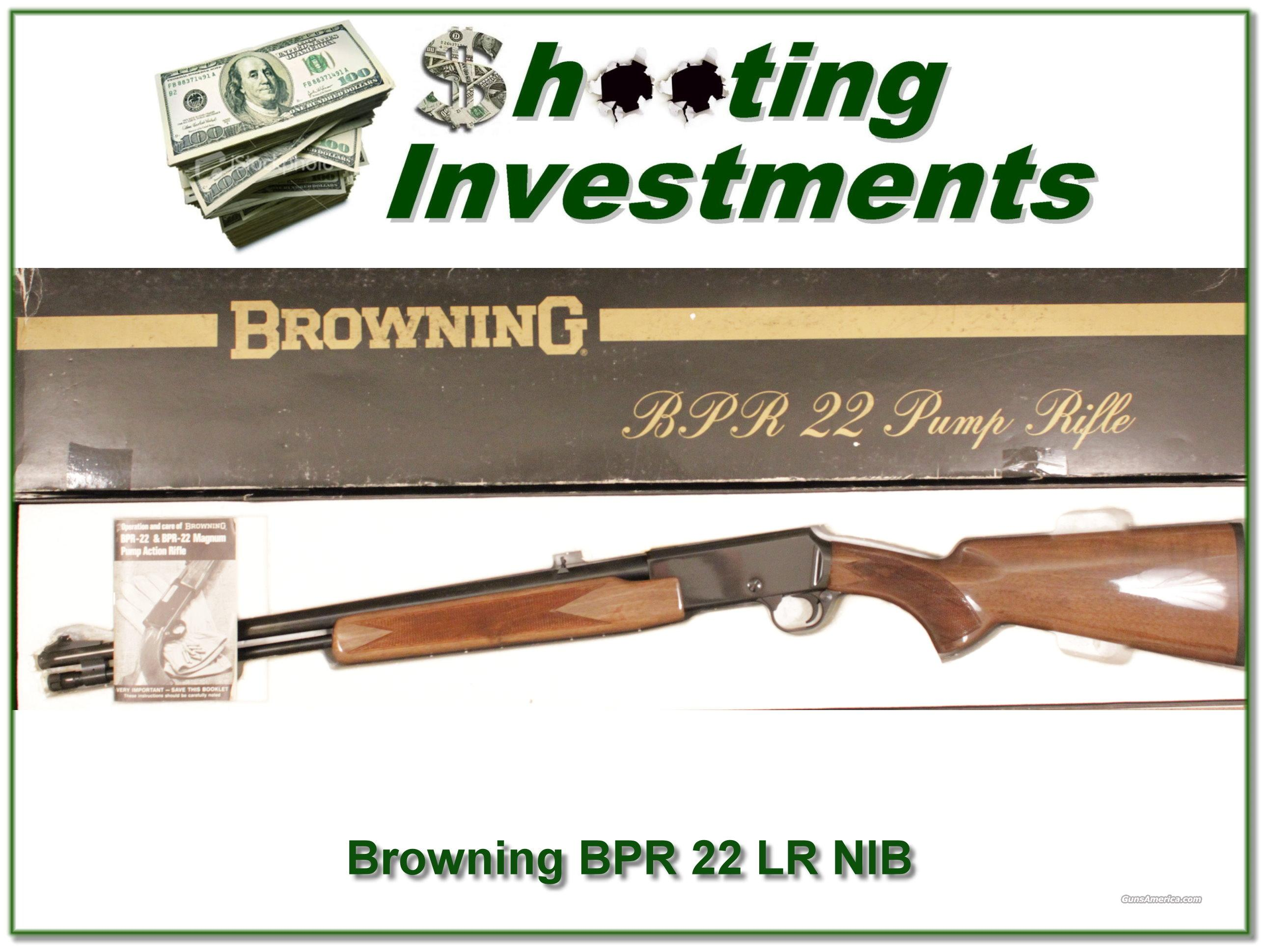 Browning BPR 22 LR NIB  Guns > Rifles > Browning Rifles > Pump Action