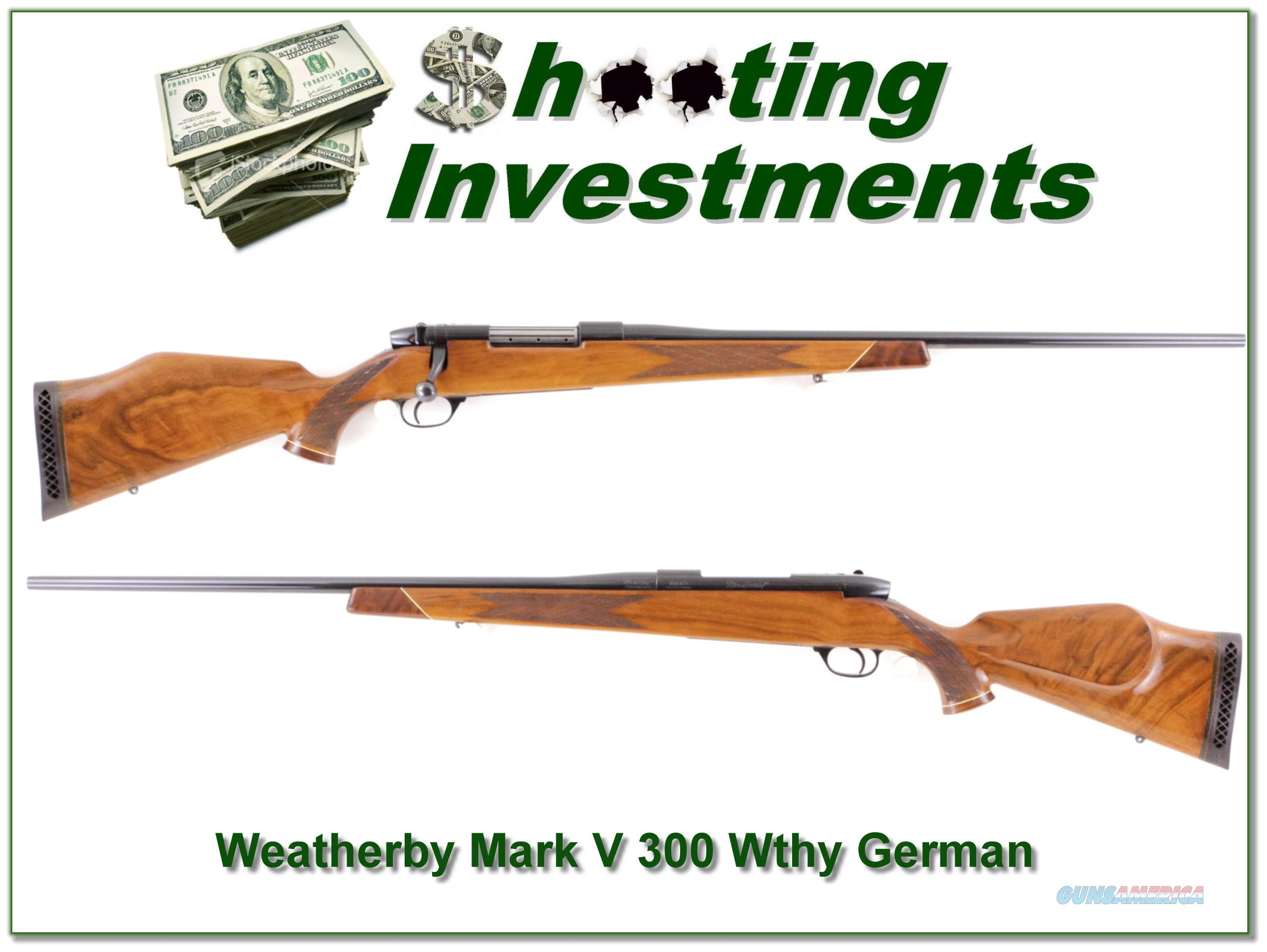 Weatherby Mark V Deluxe 1961 German made!  Guns > Rifles > Weatherby Rifles > Sporting