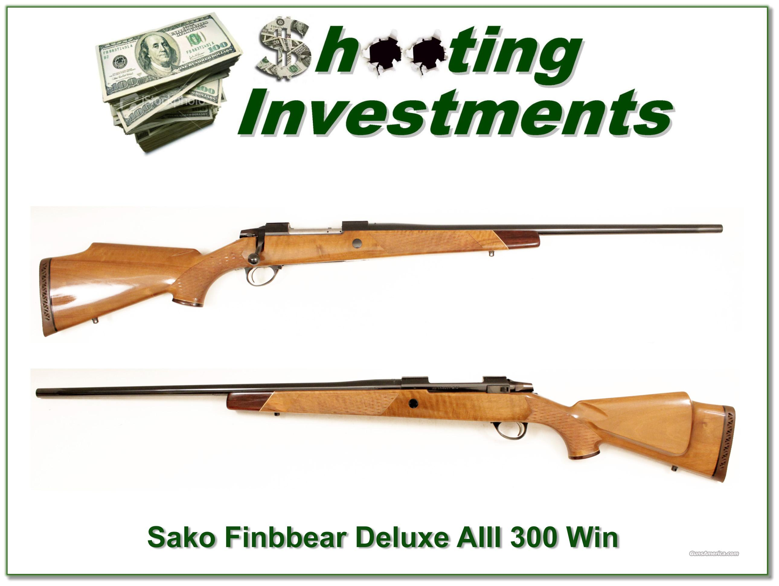 Sako Finnbear Deluxe AIII 300 Win Mag as new!  Guns > Rifles > Sako Rifles > Other Bolt Action