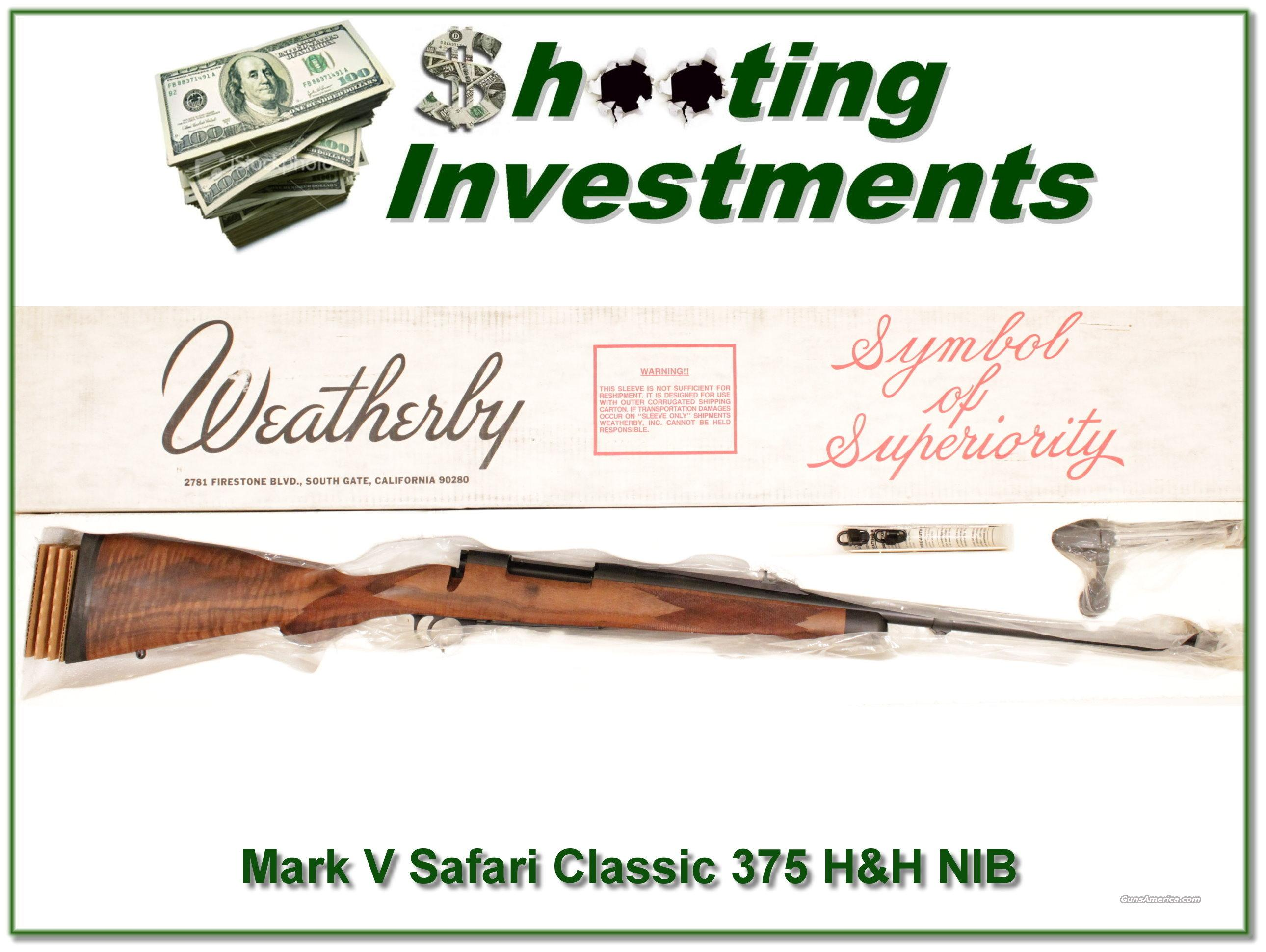 Weatherby Mark V 375 H&H Safari Classic NIB!  Guns > Rifles > Weatherby Rifles > Sporting