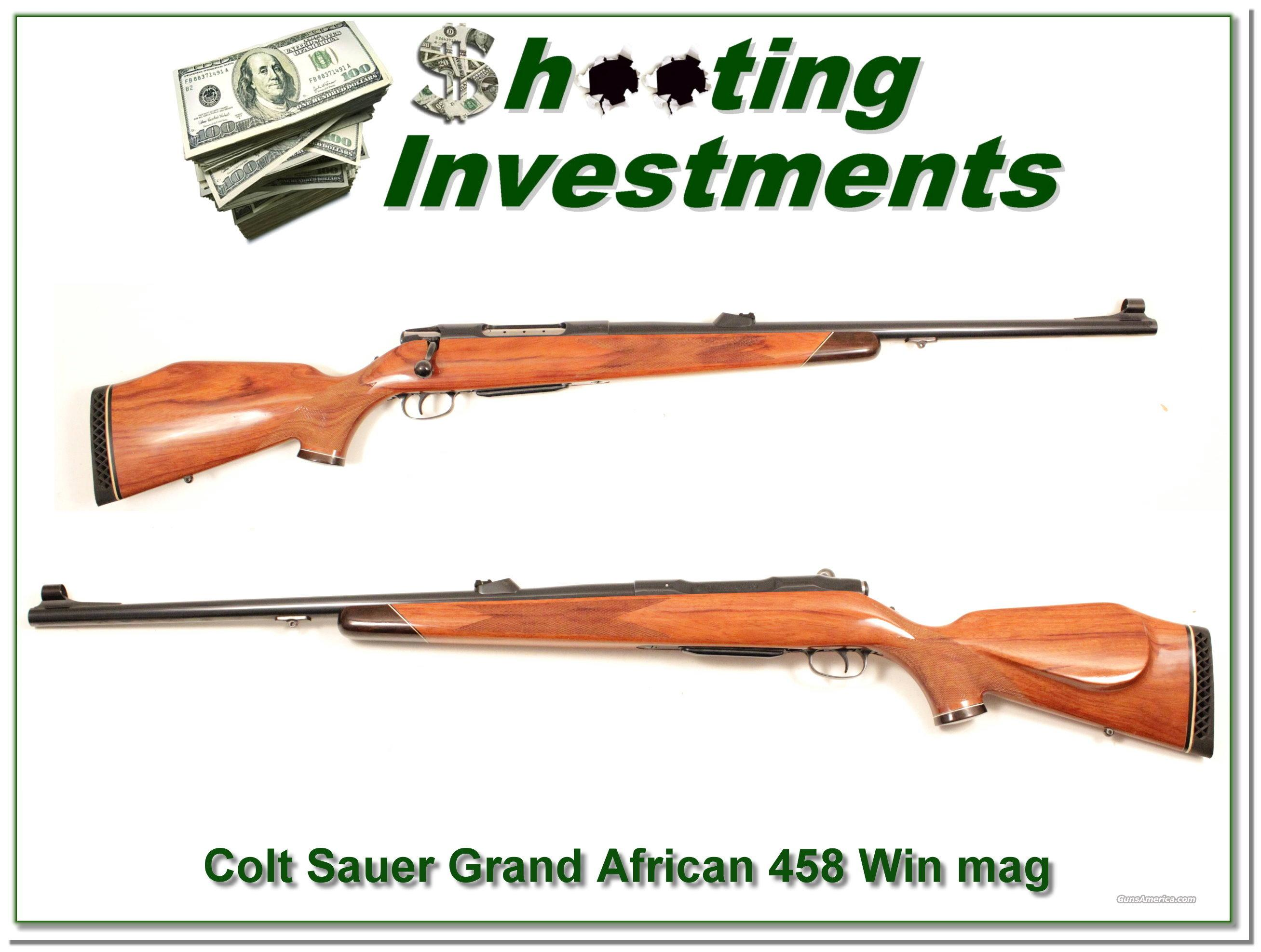 Colt Sauer Grand African 458 Win Mag as new!  Guns > Rifles > Colt Rifles - Non-AR15 Modern Rifles