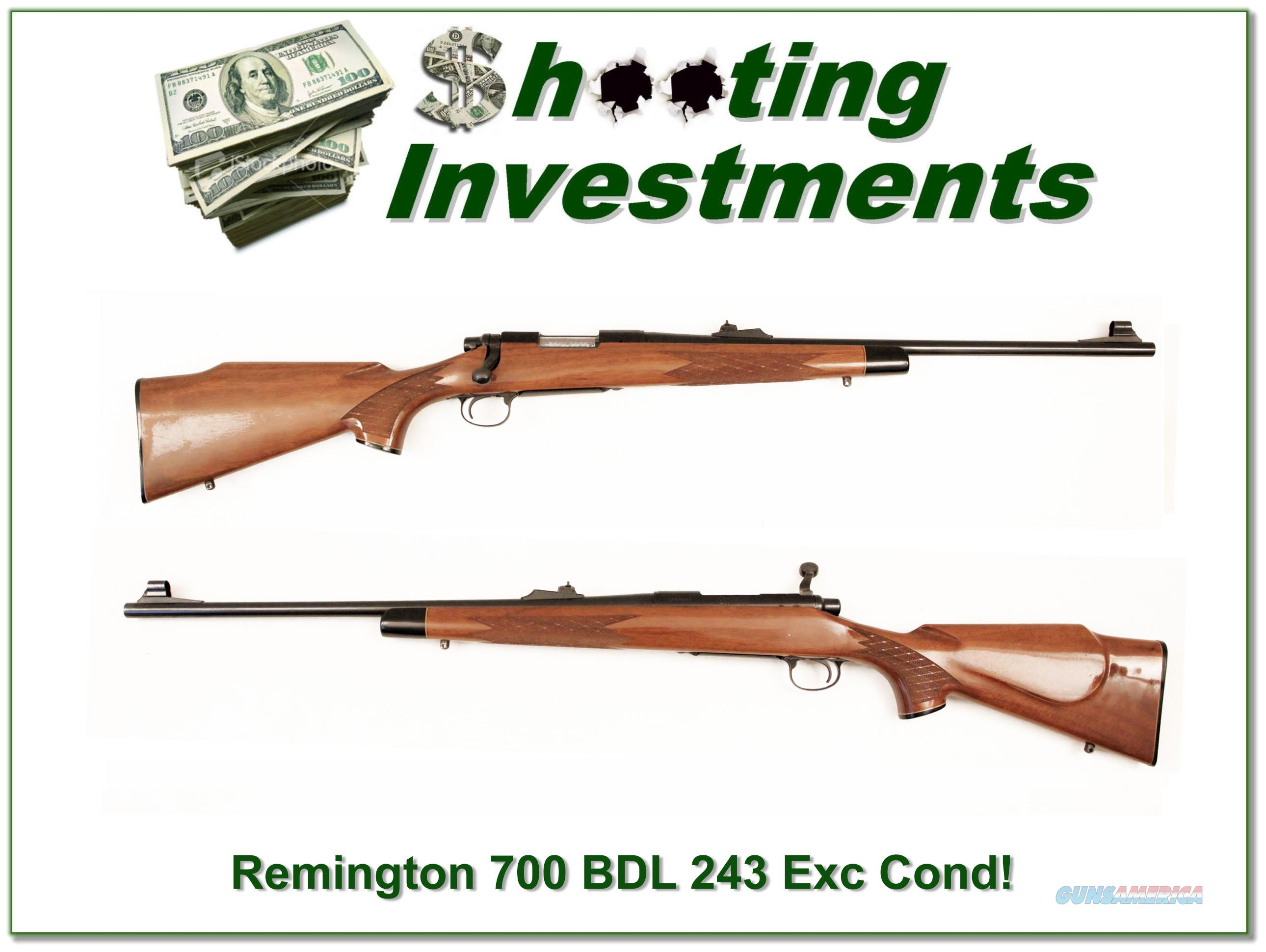 Remington BDL 243 Winchester Exc Cond!  Guns > Rifles > Remington Rifles - Modern > Bolt Action Non-Model 700 > Sporting