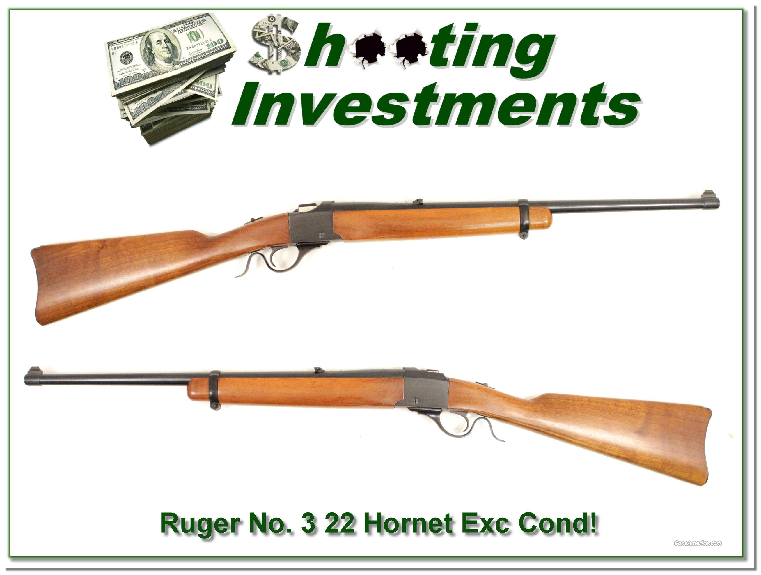 Ruger No. 3 Older 1977 in hard to find 22 Hornet as new  Guns > Rifles > Ruger Rifles > #1 Type