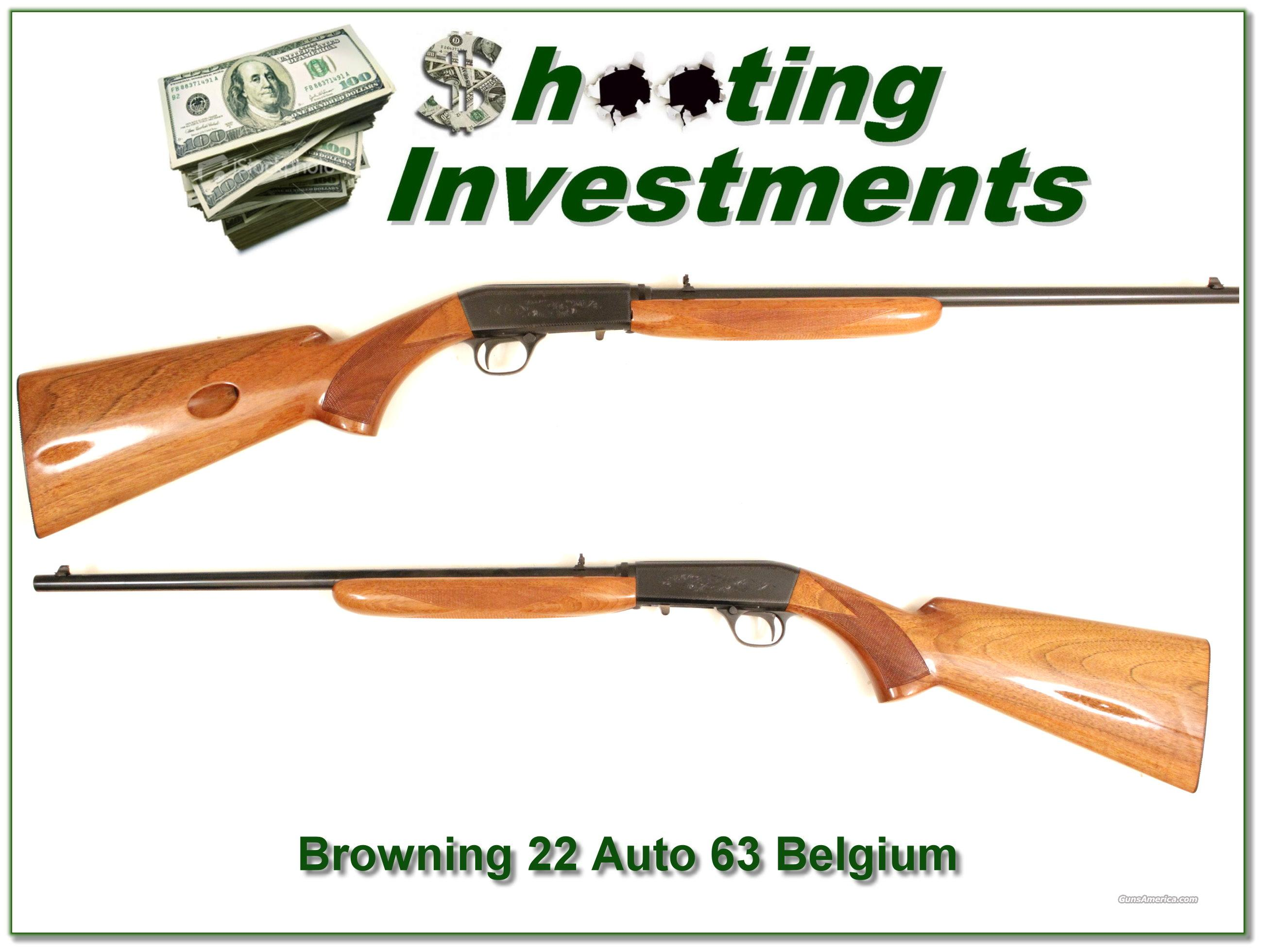 Browning 22 Auto 63 Belgium  Guns > Rifles > Browning Rifles > Semi Auto > Hunting